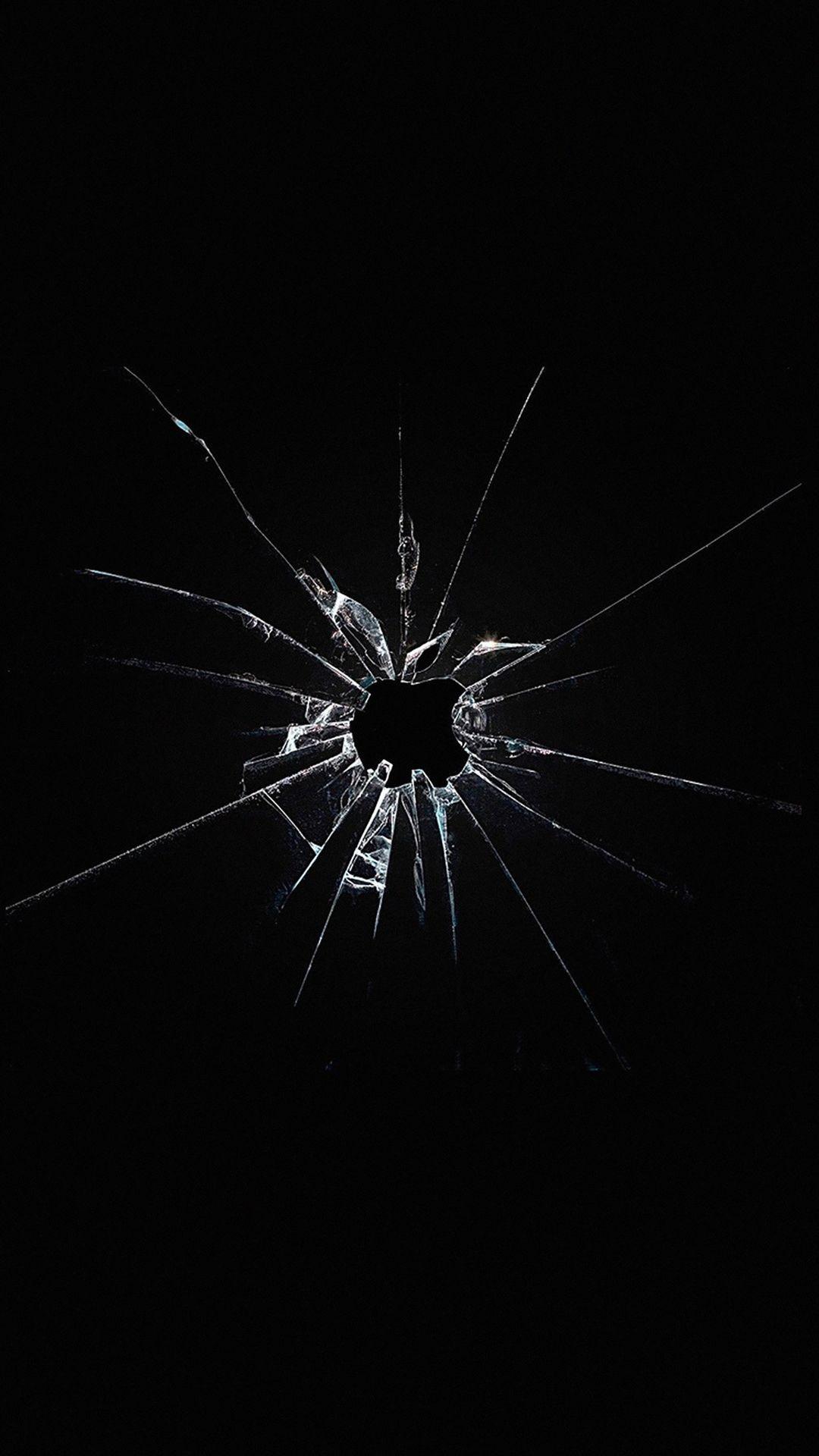 Res: 1080x1920, Apple Logo Window Dark Broken iPhone 6 wallpaper