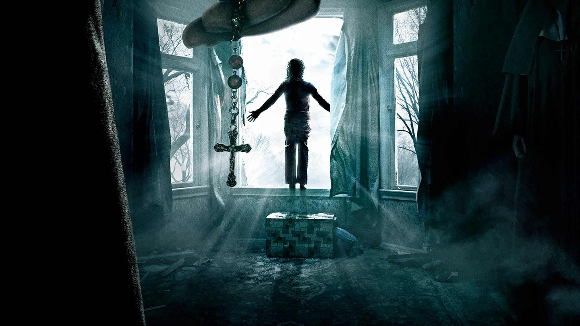Res: 1920x1080,  Preview wallpaper the conjuring, horror, window, cross