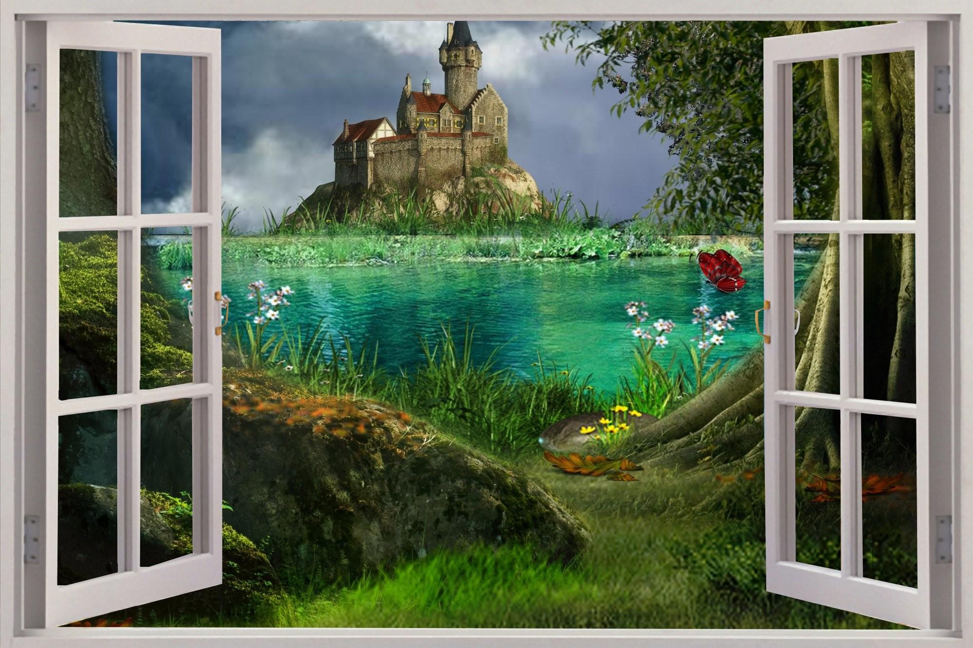 Res: 2000x1333, castle mural hd wallpaper 3D