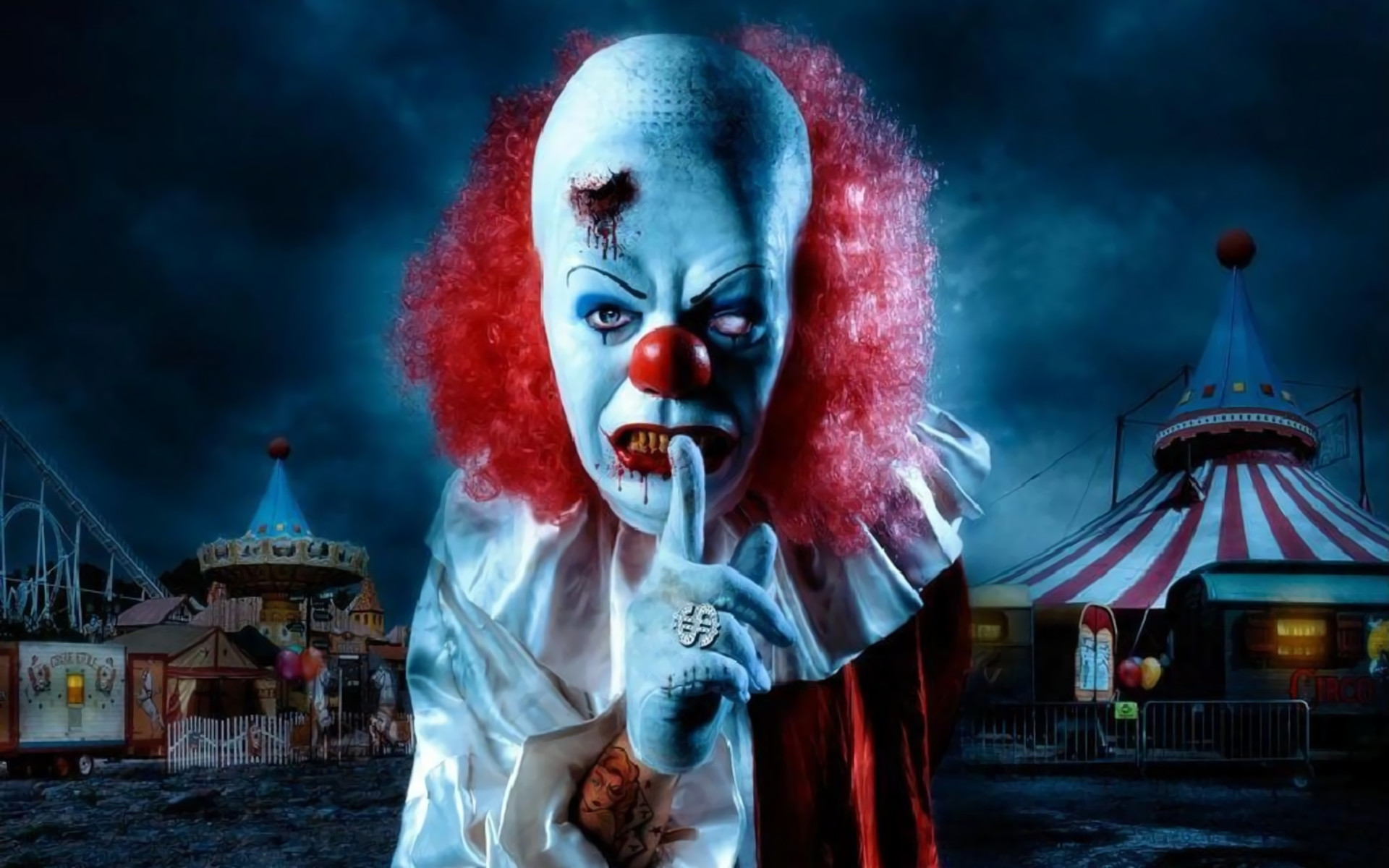 Res: 1920x1200, Scary Clown Wallpaper