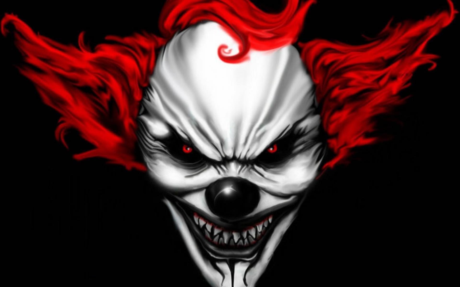 Res: 1920x1200, Dark - Clown Scary Evil Face Dark Creepy Wallpaper