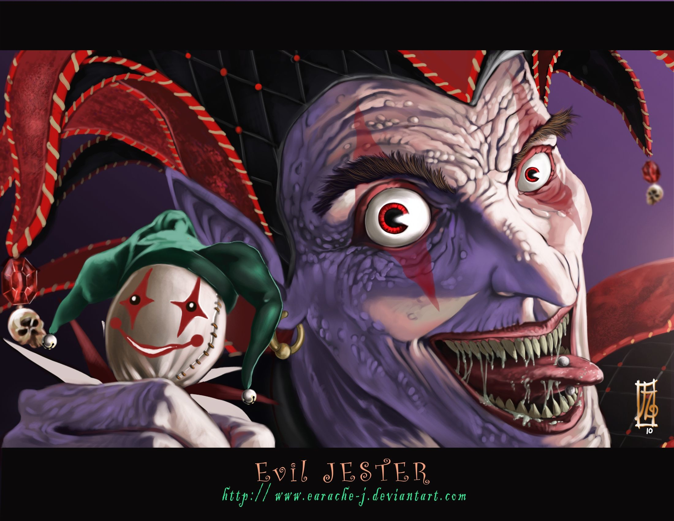 Res: 2200x1700, Evil Jester wallpaper from Clowns wallpapers