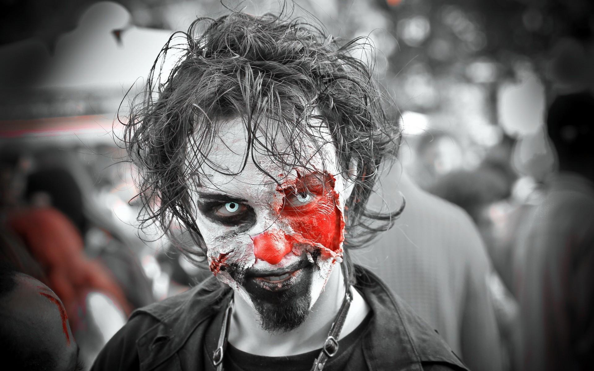 Res: 1920x1200, Zombie Clown Wallpaper