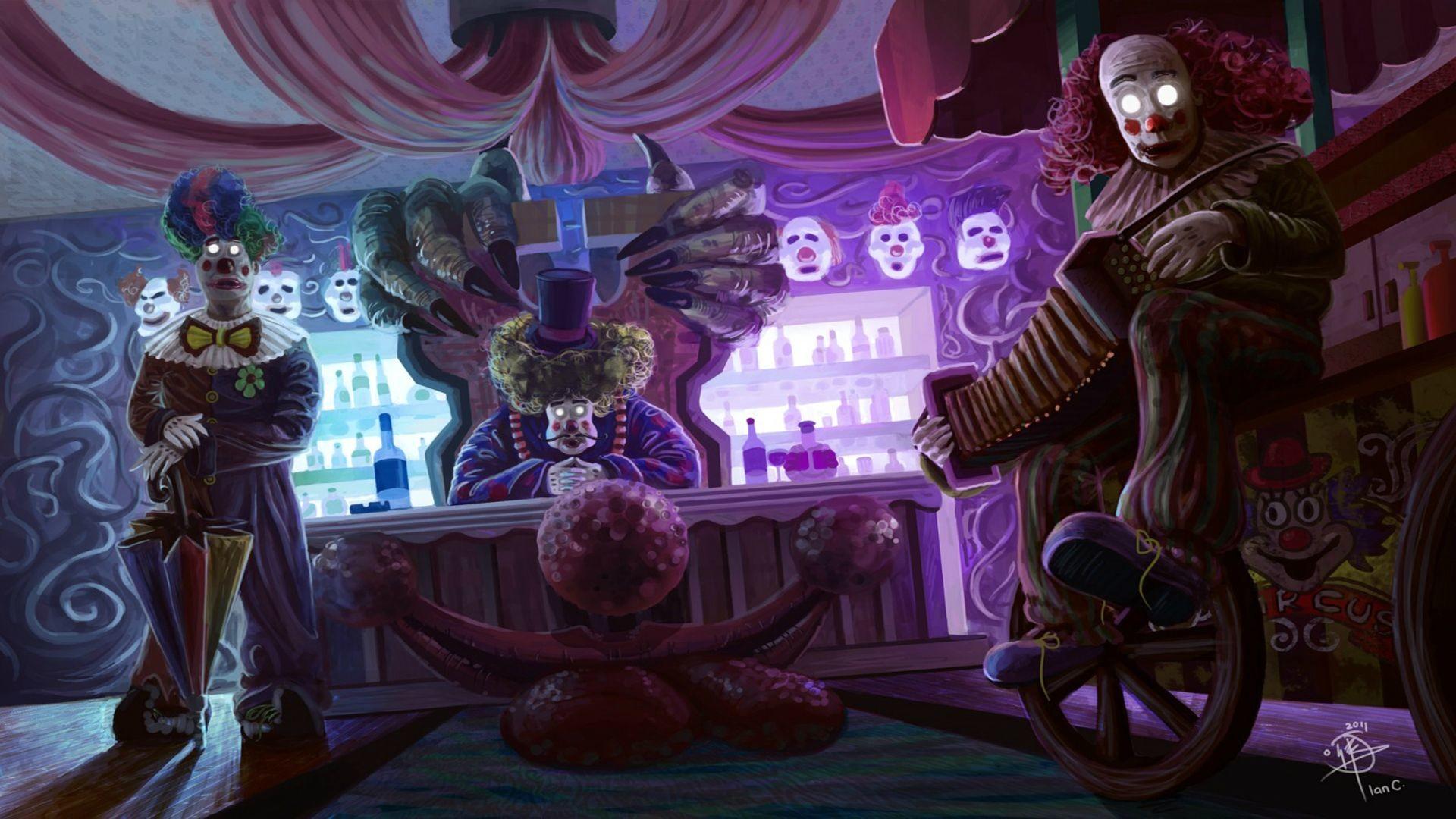 Res: 1920x1080, Illustration horror clown circus creepy wallpaper |  | 125420 |  WallpaperUP