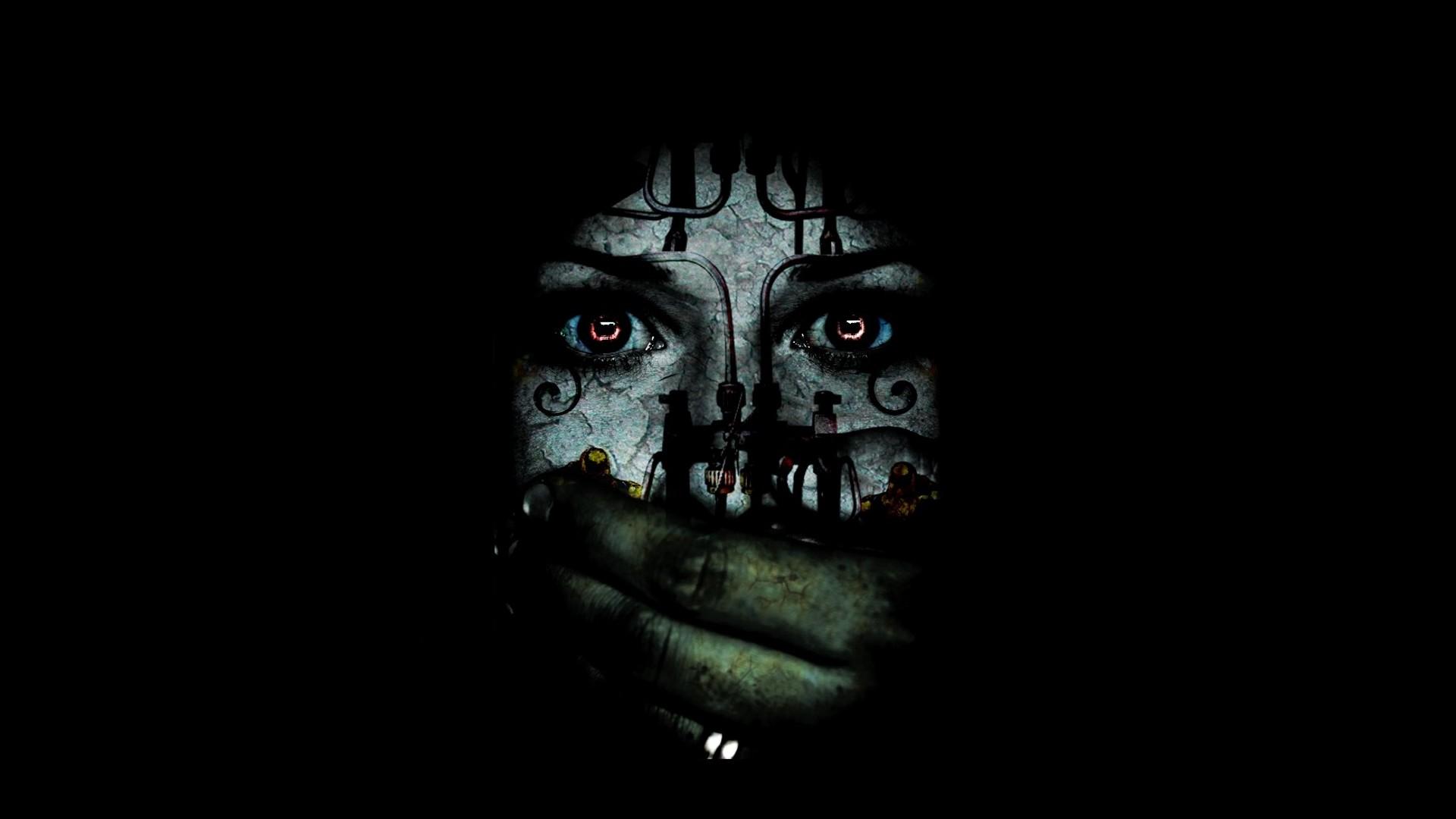 Res: 1920x1080, Black Hidden Scary Wallpaper