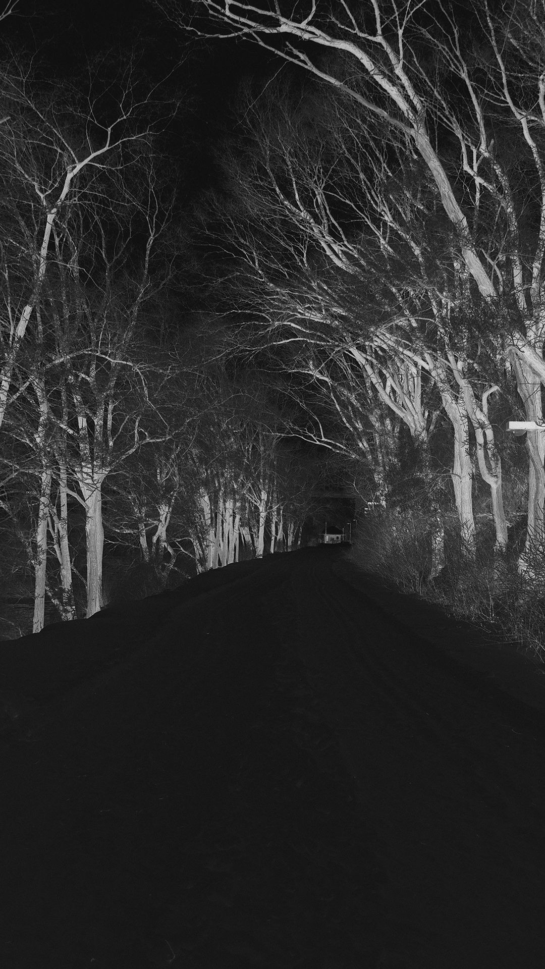 Res: 1080x1920, Winter Scary Road Nature Mountain Dark #iPhone #6 #plus #wallpaper