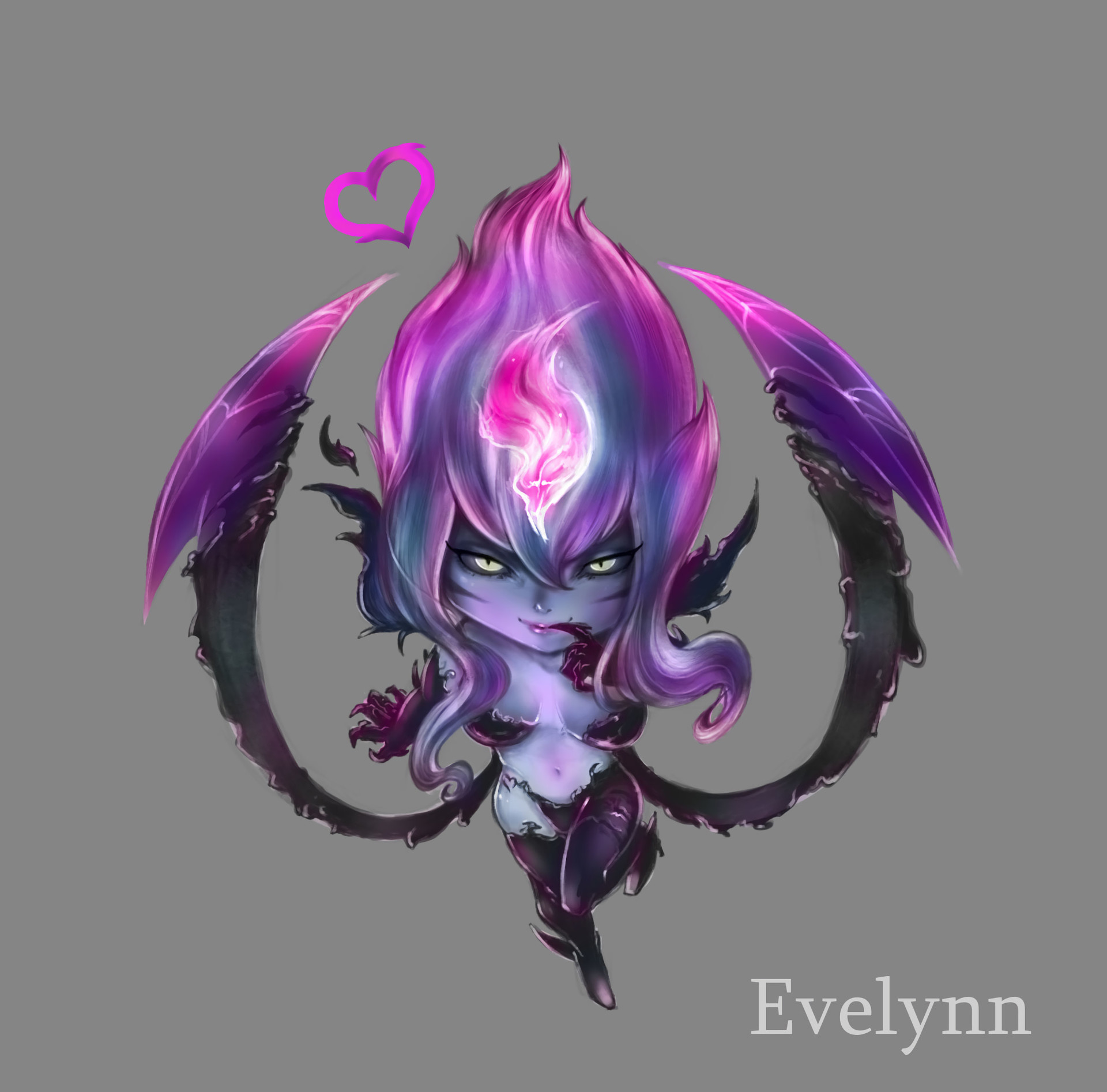 Res: 1920x1894, Chibi Evelynn Rework by tataart HD Wallpaper Background Fan Art Artwork  League of Legends lol