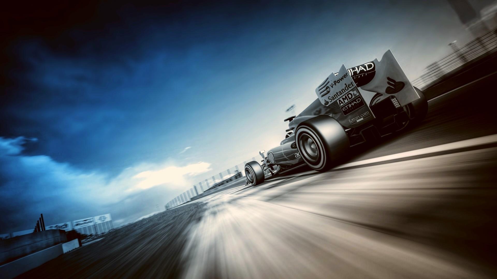 Res: 1920x1080, Download F1 Car Motion Wallpaper HD.
