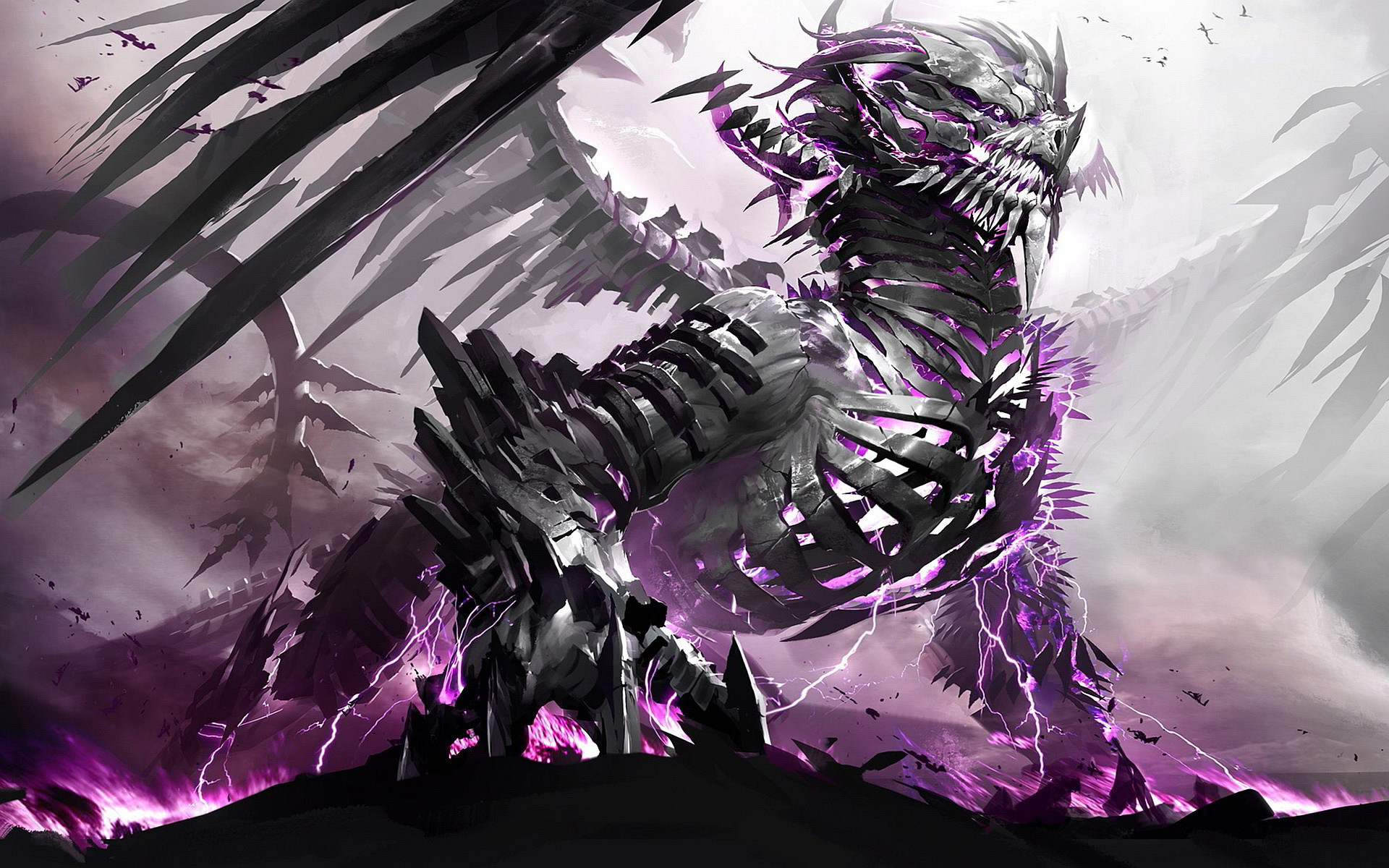 Res: 1920x1200,  Skeleton Dragon Exclusive HD Wallpapers #4292
