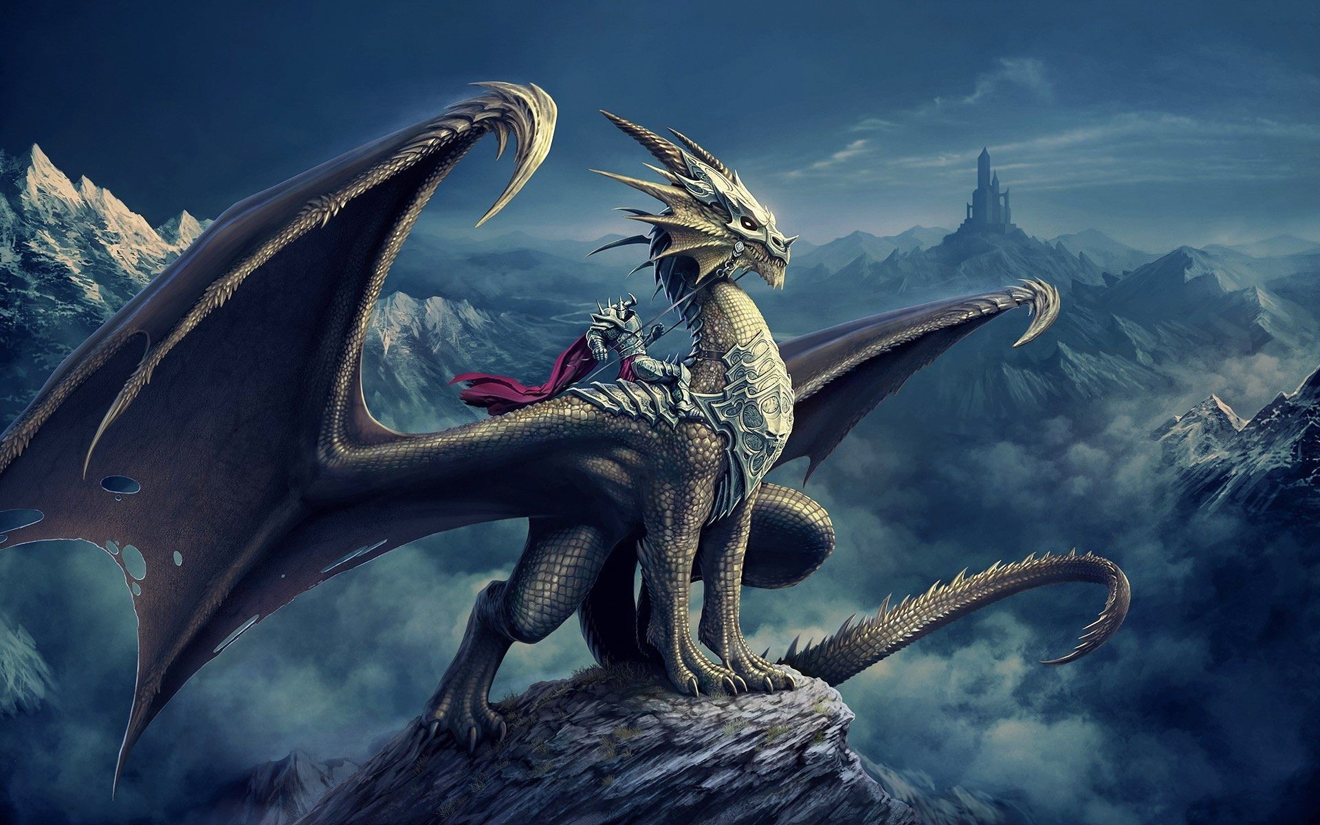 Res: 1920x1200,  3D Dragon Knight Fantasy Wallpaper #2586 Wallpaper | Best  Wallpaper HD