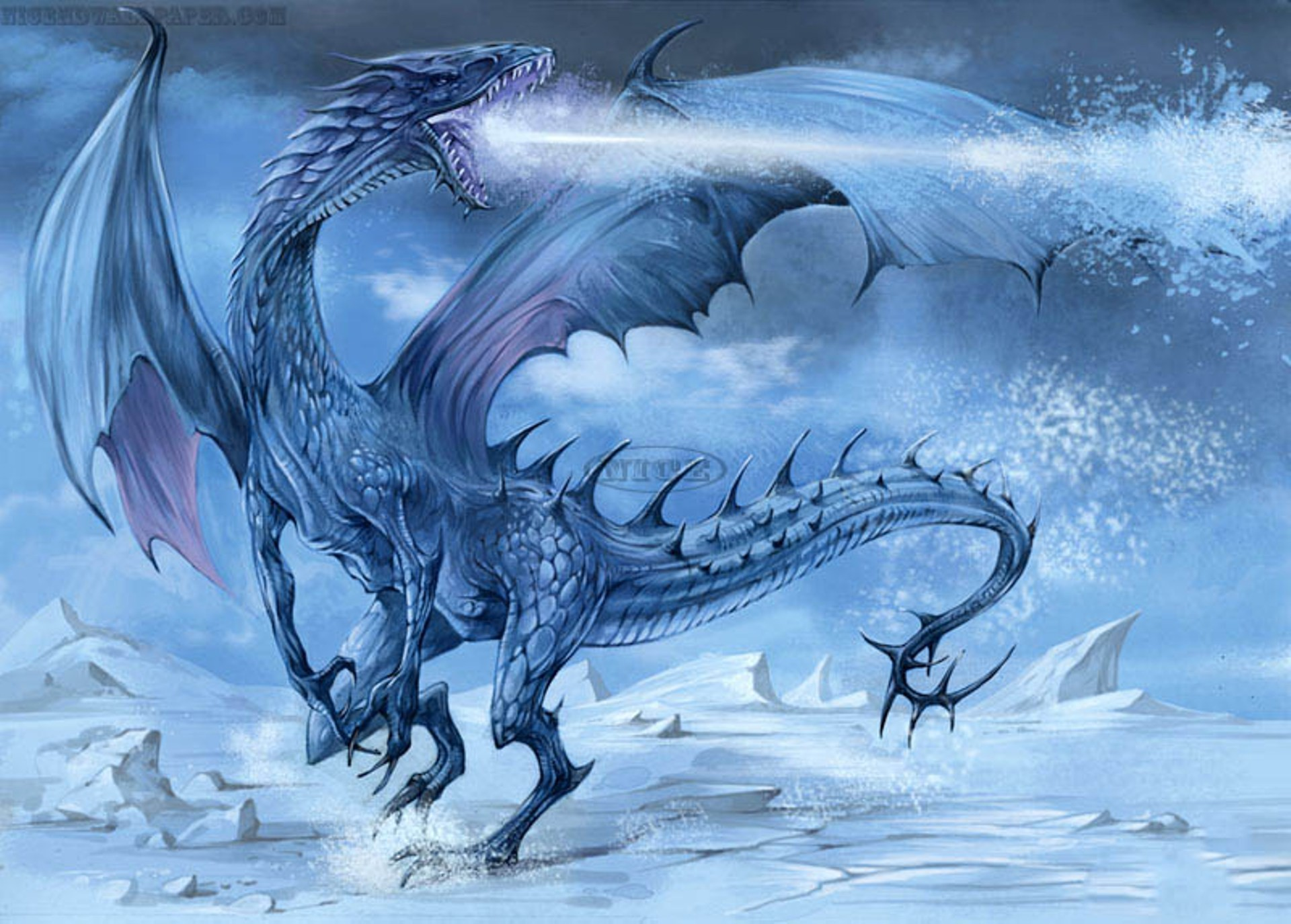 Res: 1920x1375, Image for Fantasy Ice Dragons Wallpaper Cool HD