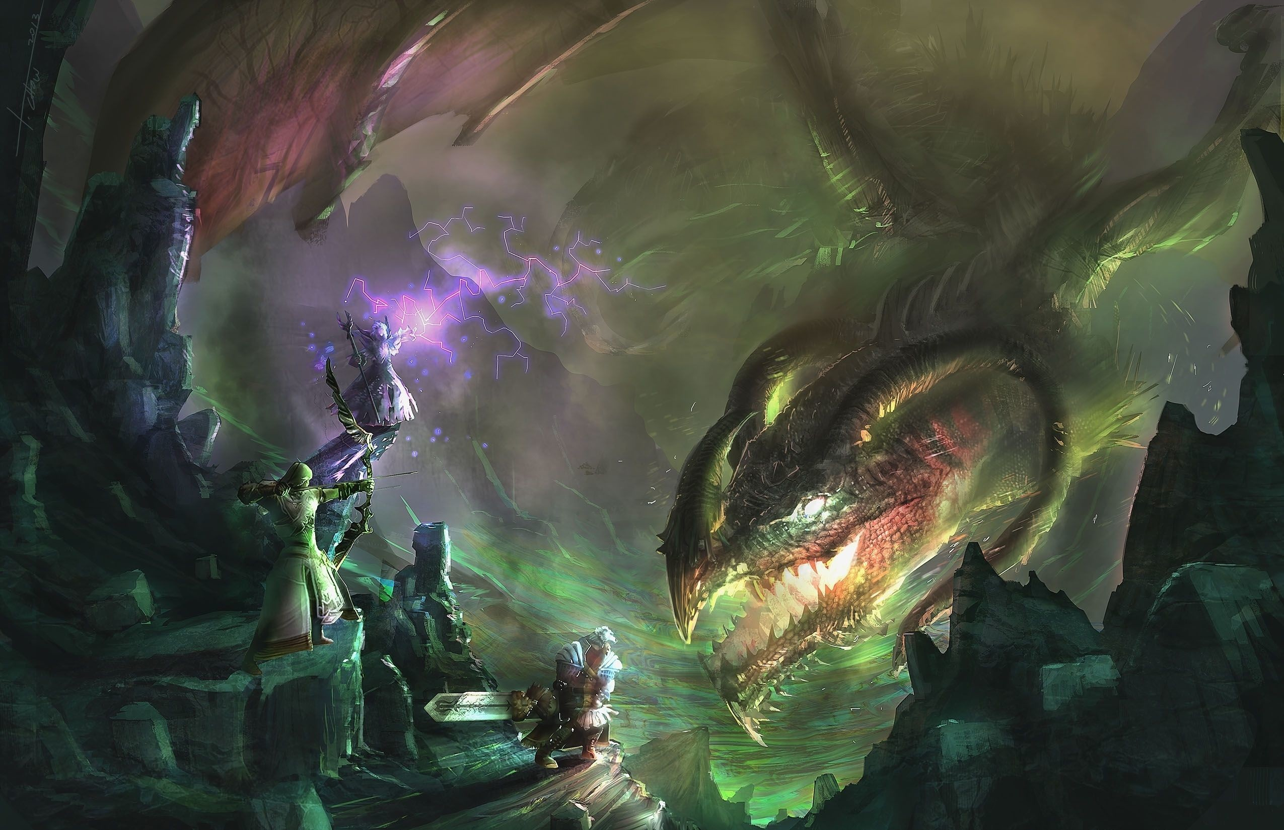 Res: 2550x1650, Guild Wars 2 dragon dragons monster creature fantasy wallpaper |   | 133447 | WallpaperUP