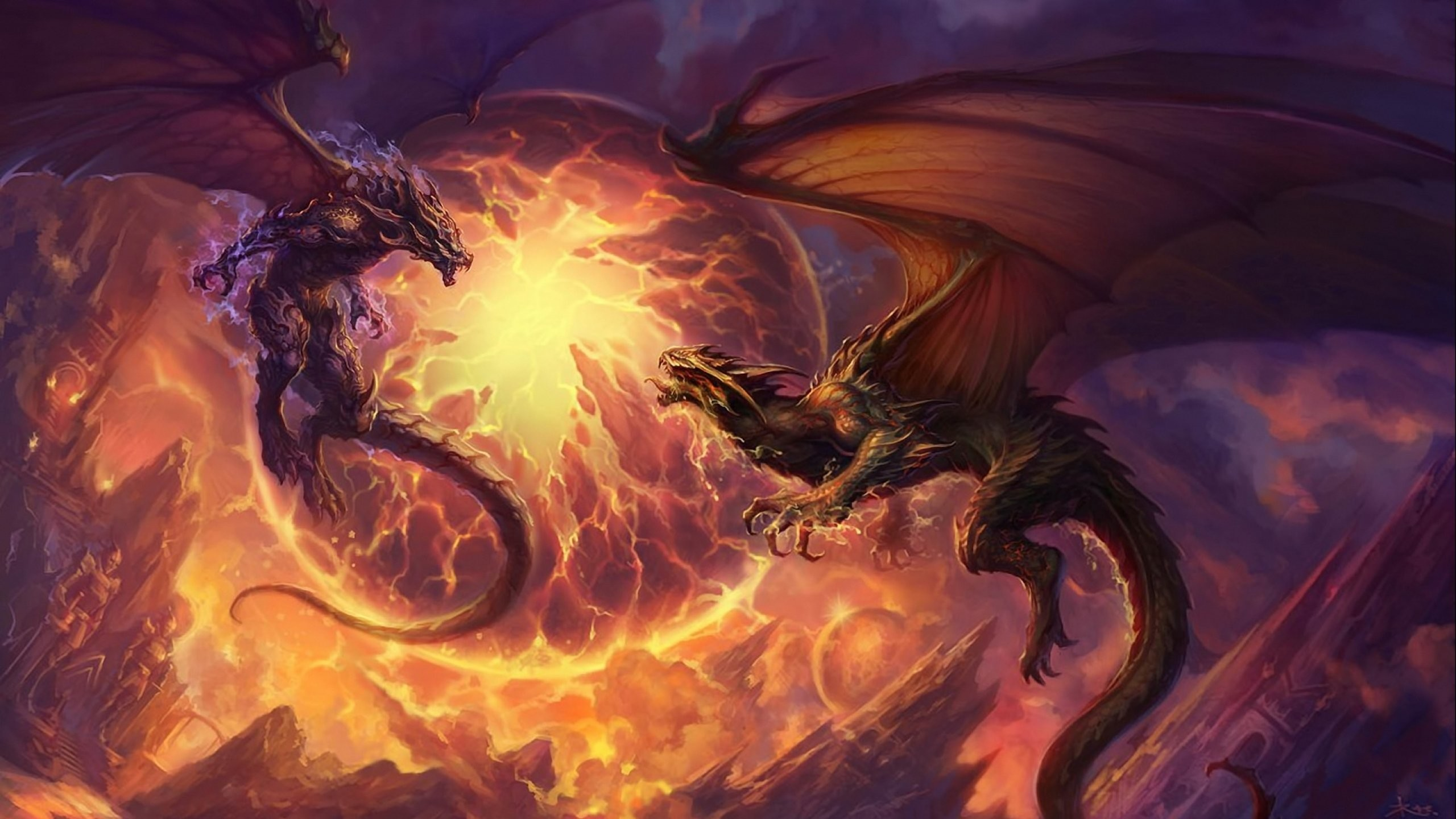 Res: 2560x1440, cool dragon wallpapers #105589