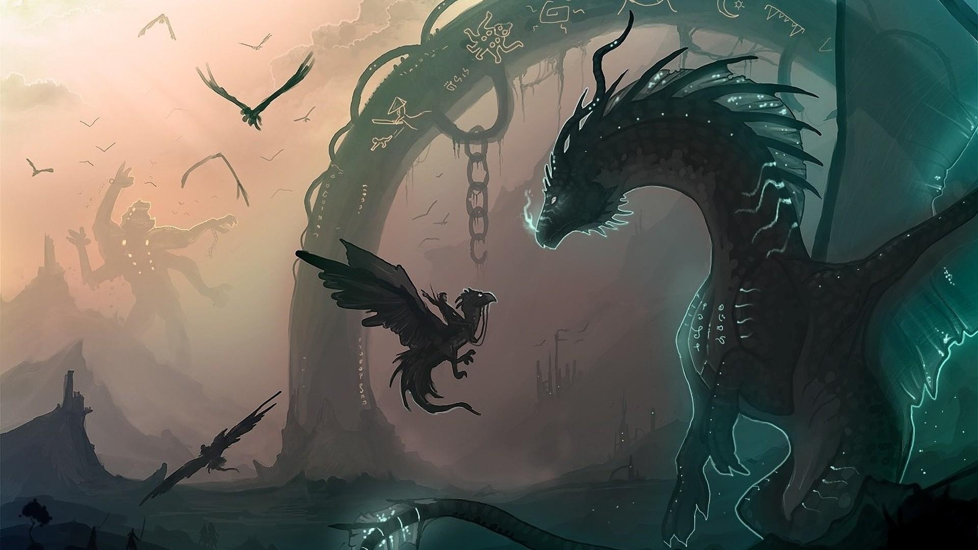Res: 1920x1080, Dragon Fantasy Anime Wallpaper Wallpaper