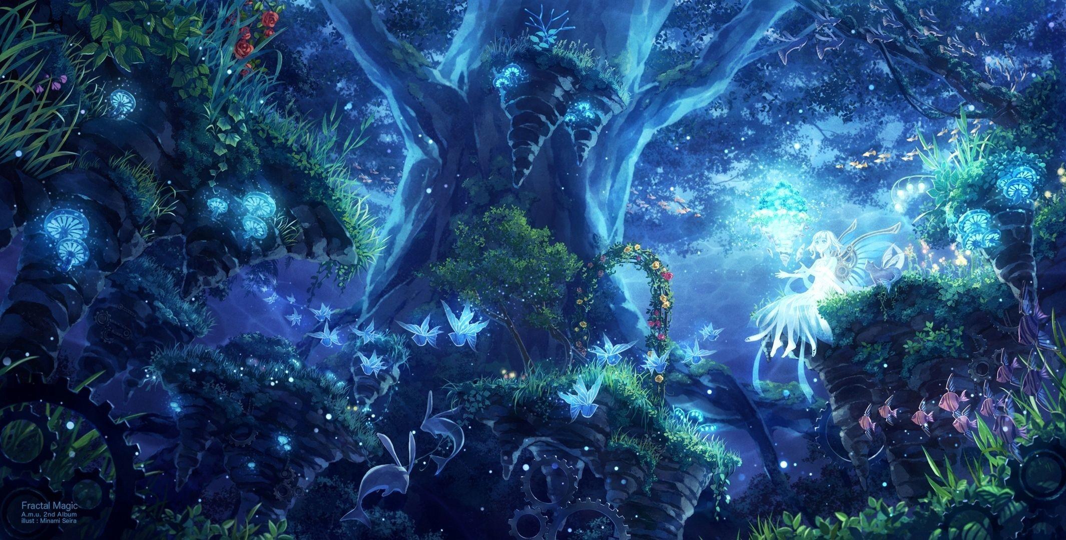Res: 2130x1080, http://hdw.datawallpaper.com/anime/fantasy-forest-