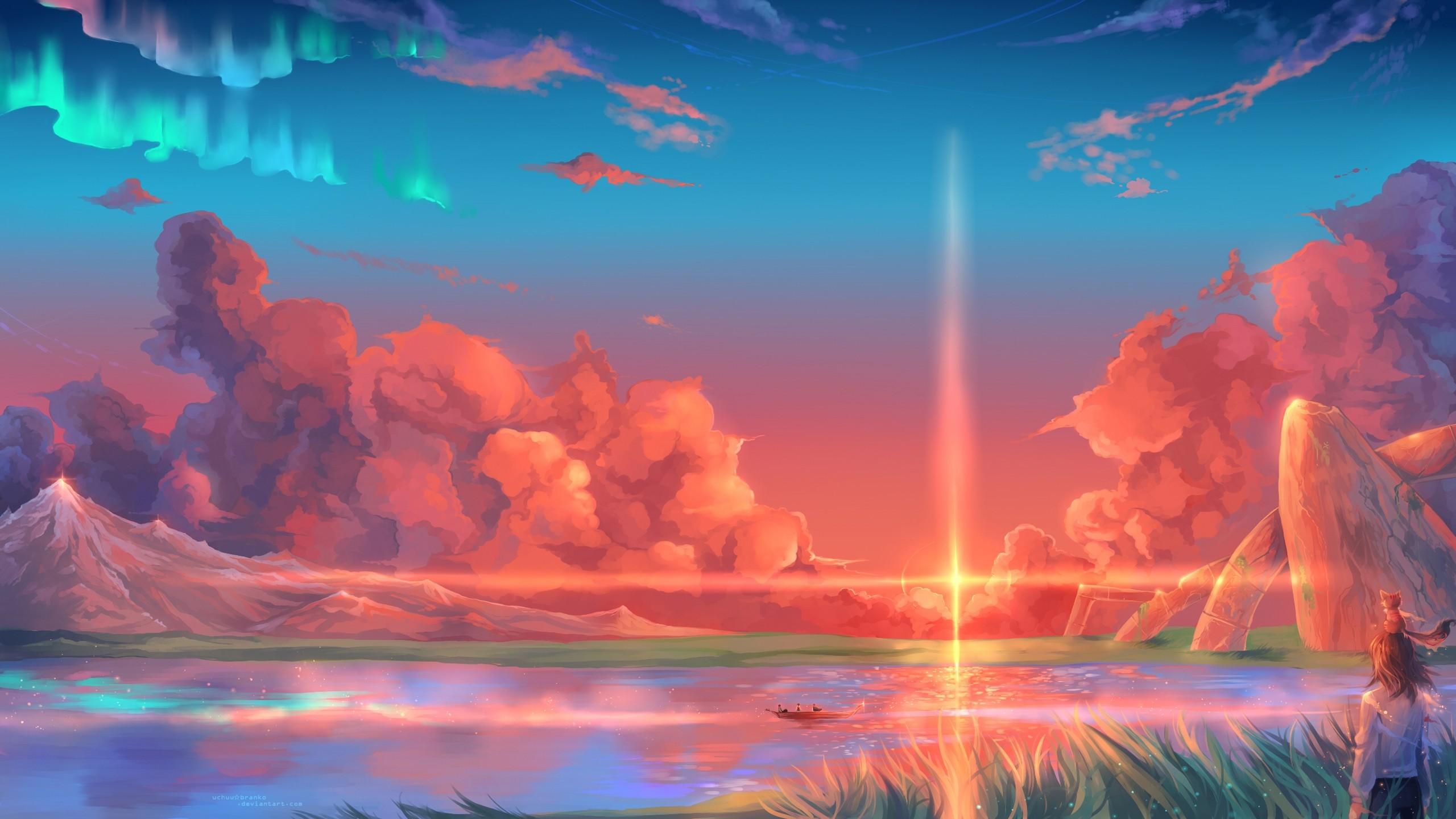 Res: 2560x1440, New Anime Fantasy Wallpaper Desktop Gallery - Free Anime Fantasy World  puter desktop hd wallpapers pictures