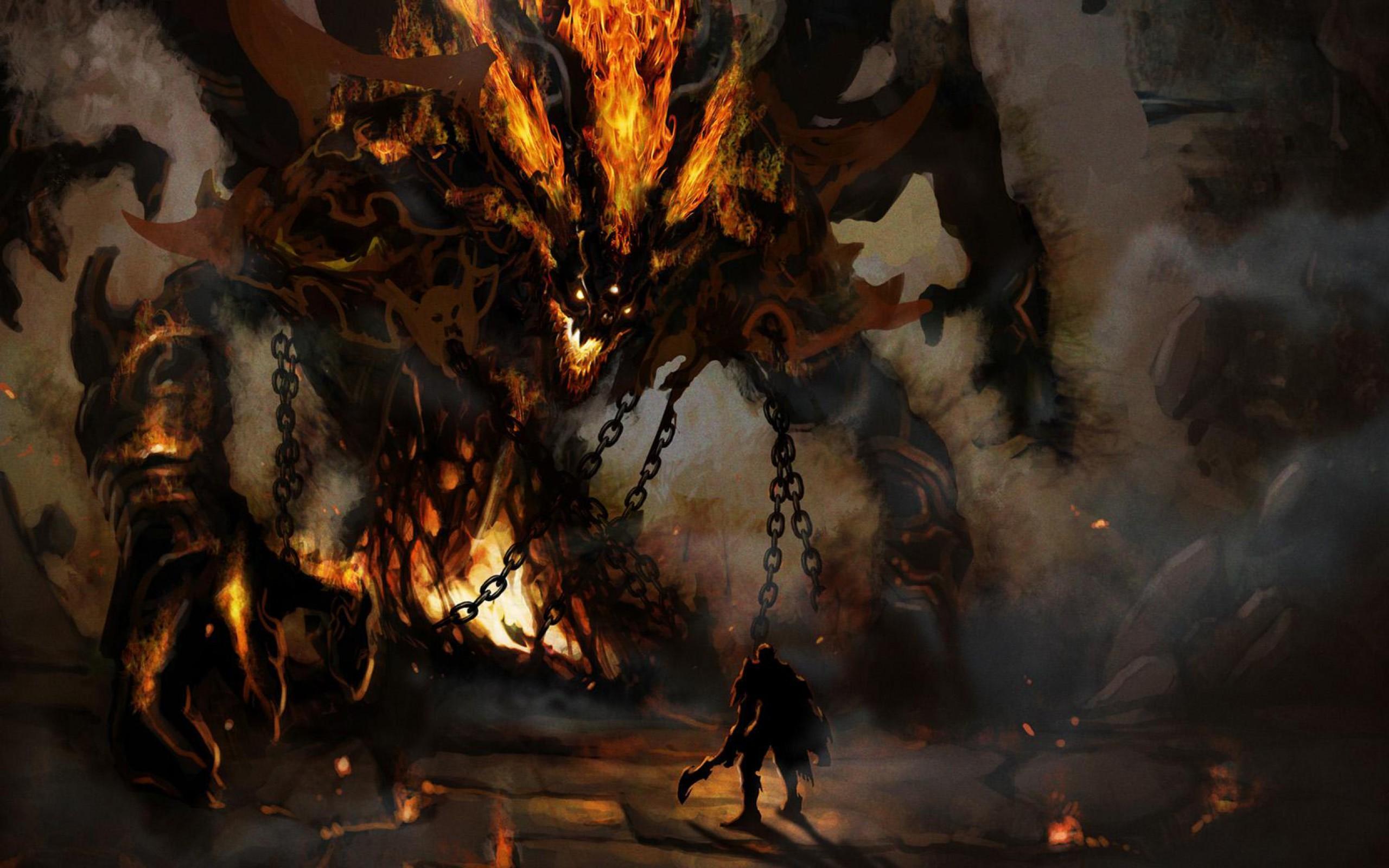 Res: 2560x1600, Demon Wallpaper