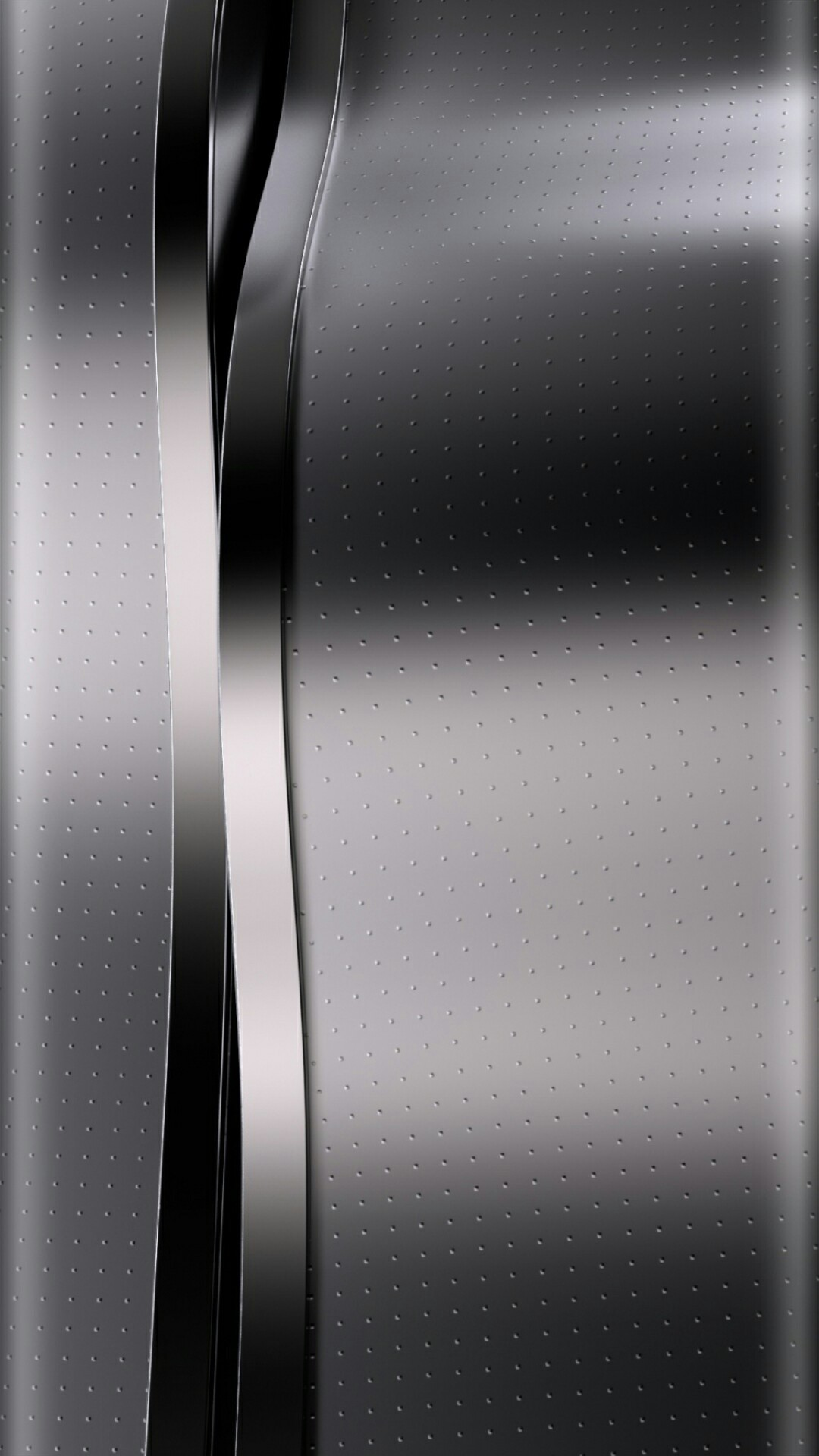 Res: 1080x1920, Silver and Black Chrome Wallpaper