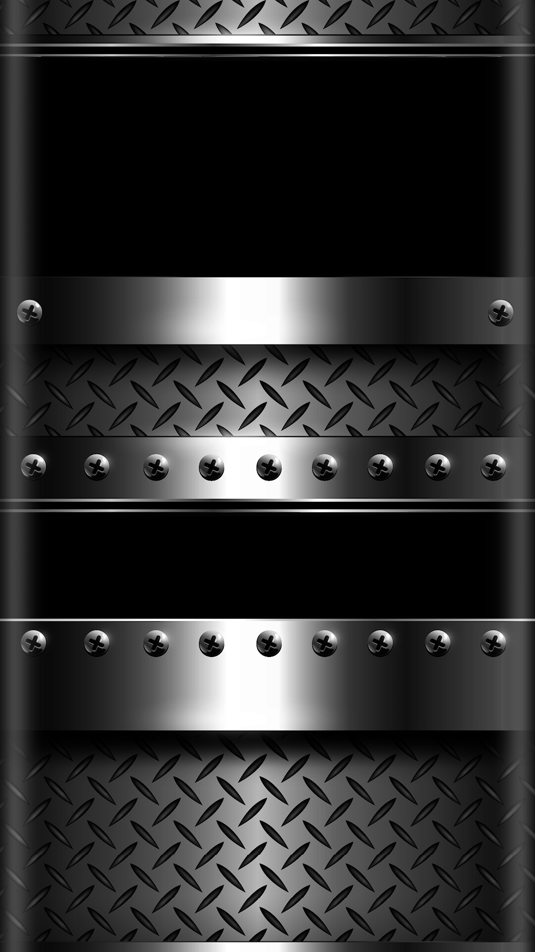 Res: 1080x1920, Sleek Chrome and Black Bulleted Wallpaper
