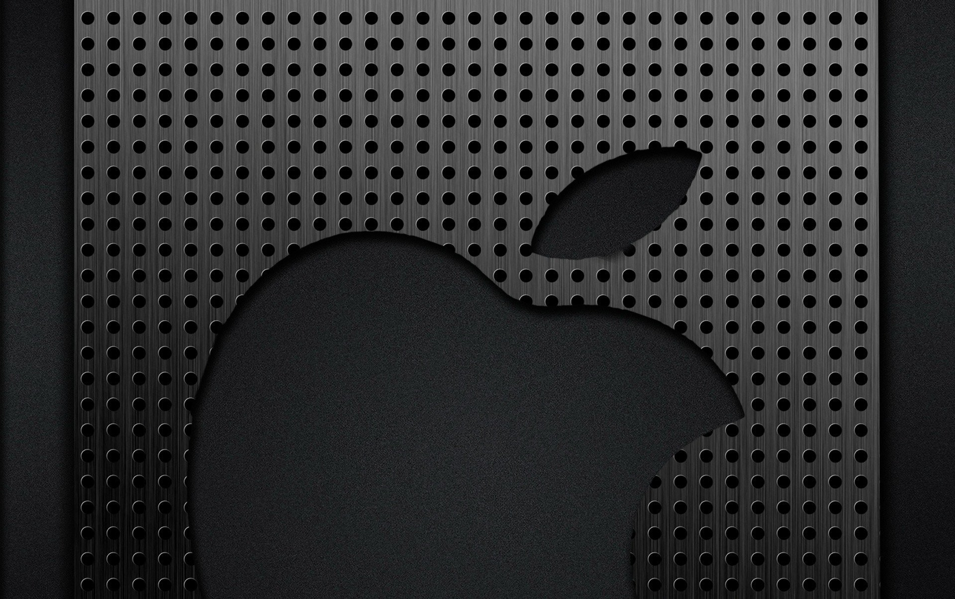 Res: 1920x1205, apple metal grey chrome logo grille cell holes