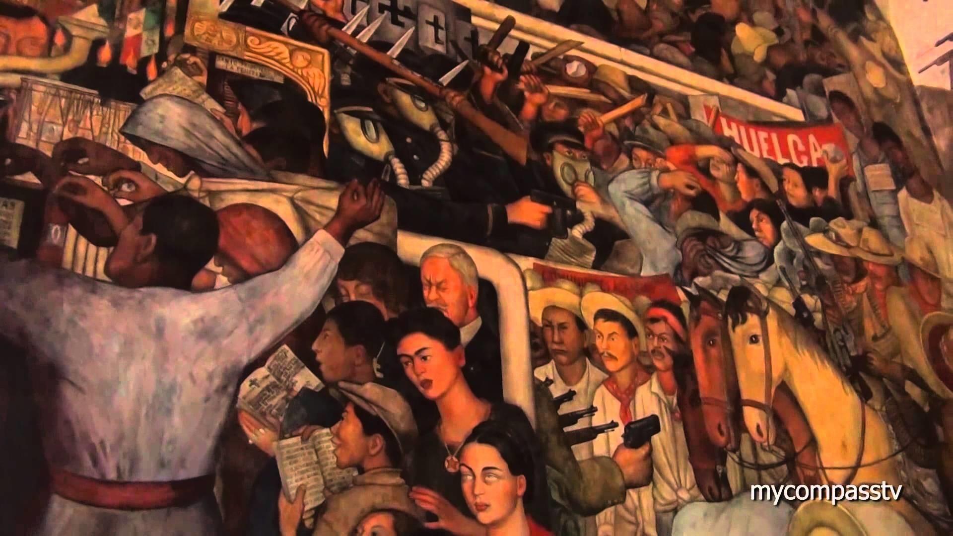 Res: 1920x1080, Murales de Diego Rivera en México - Palacio Nacional - travel channel -  YouTube