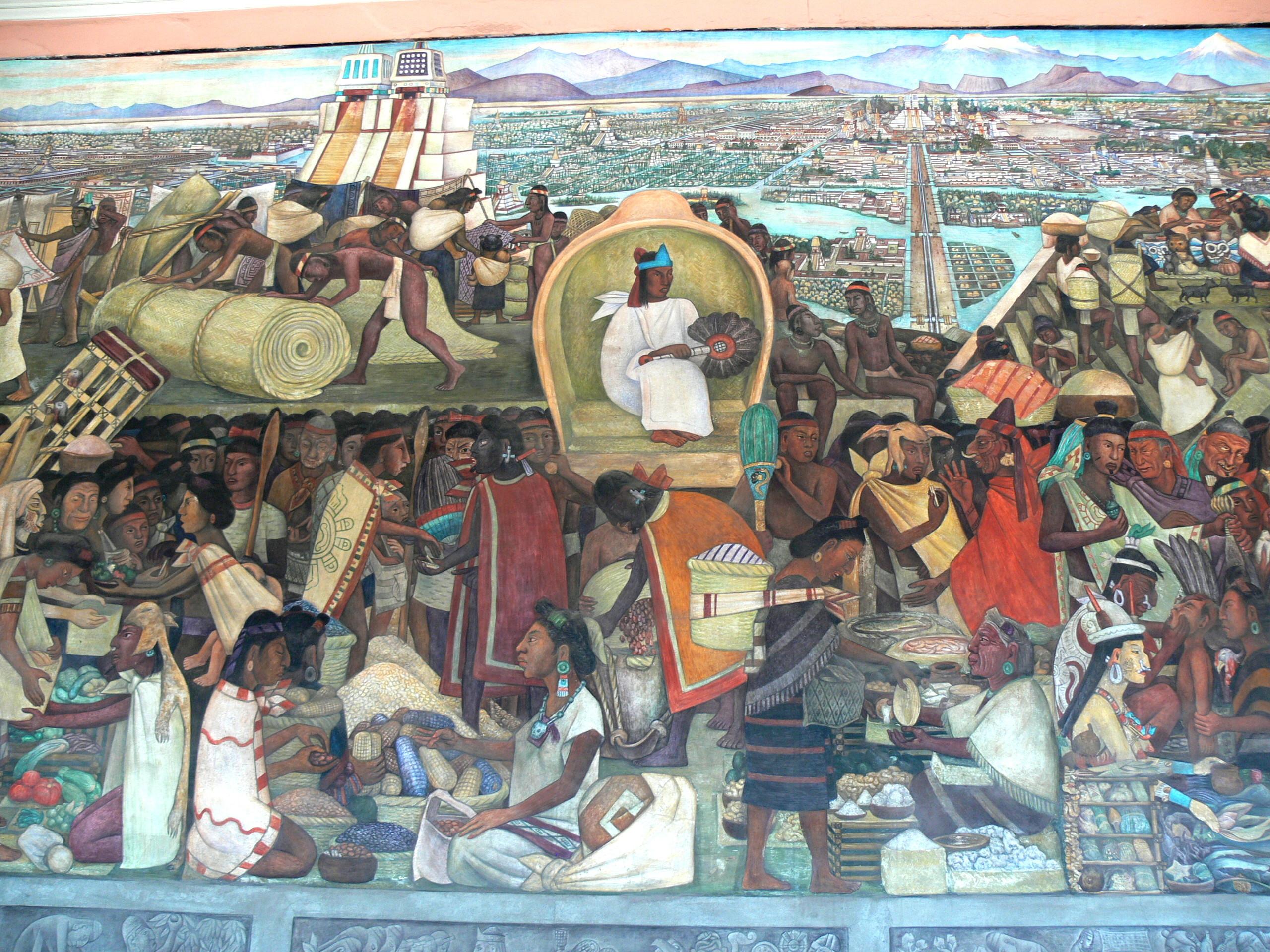Res: 2560x1920, File:Murales Rivera - Markt in Tlatelolco 1.jpg