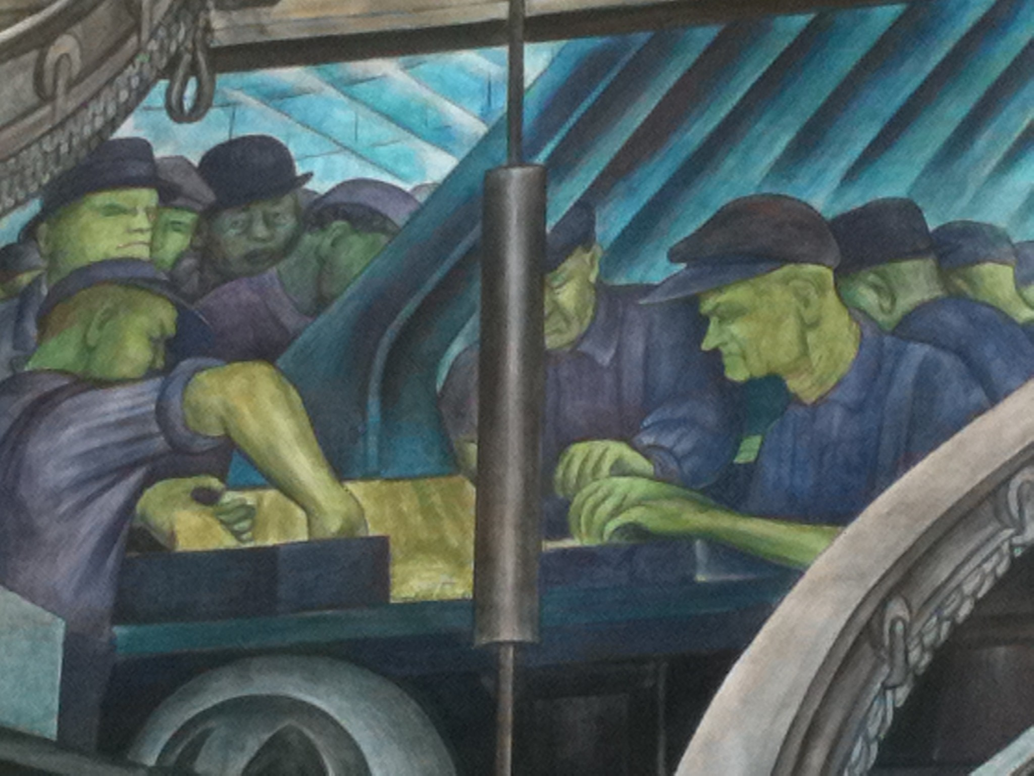 Res: 2048x1536, The Detroit Industry Murals are a series of frescoes by the Mexican artist Diego  Rivera, consisting of twenty-seven panels depicting industry at the Ford ...