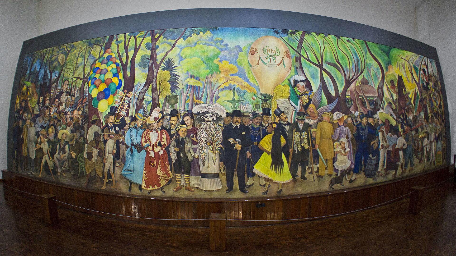 Res: 1920x1080, ... on Diego Rivera who hung around outside his studio in Mexico City to  watch him work. Rivera included Catarina in his famous mural Sueño de una  tarde ...