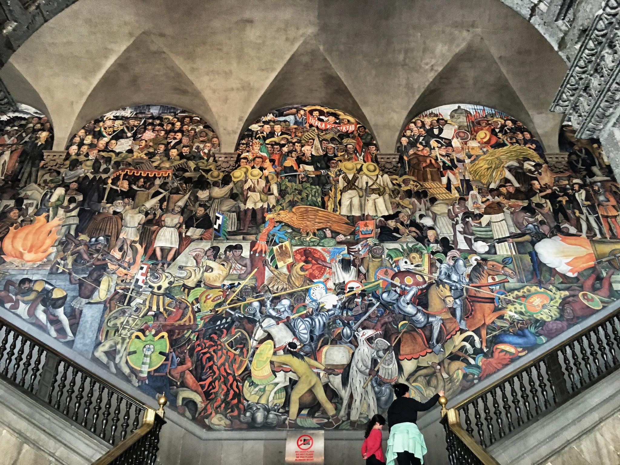 Res: 2048x1536, Murals by Diego Rivera, Palacio Nacional de Mexico