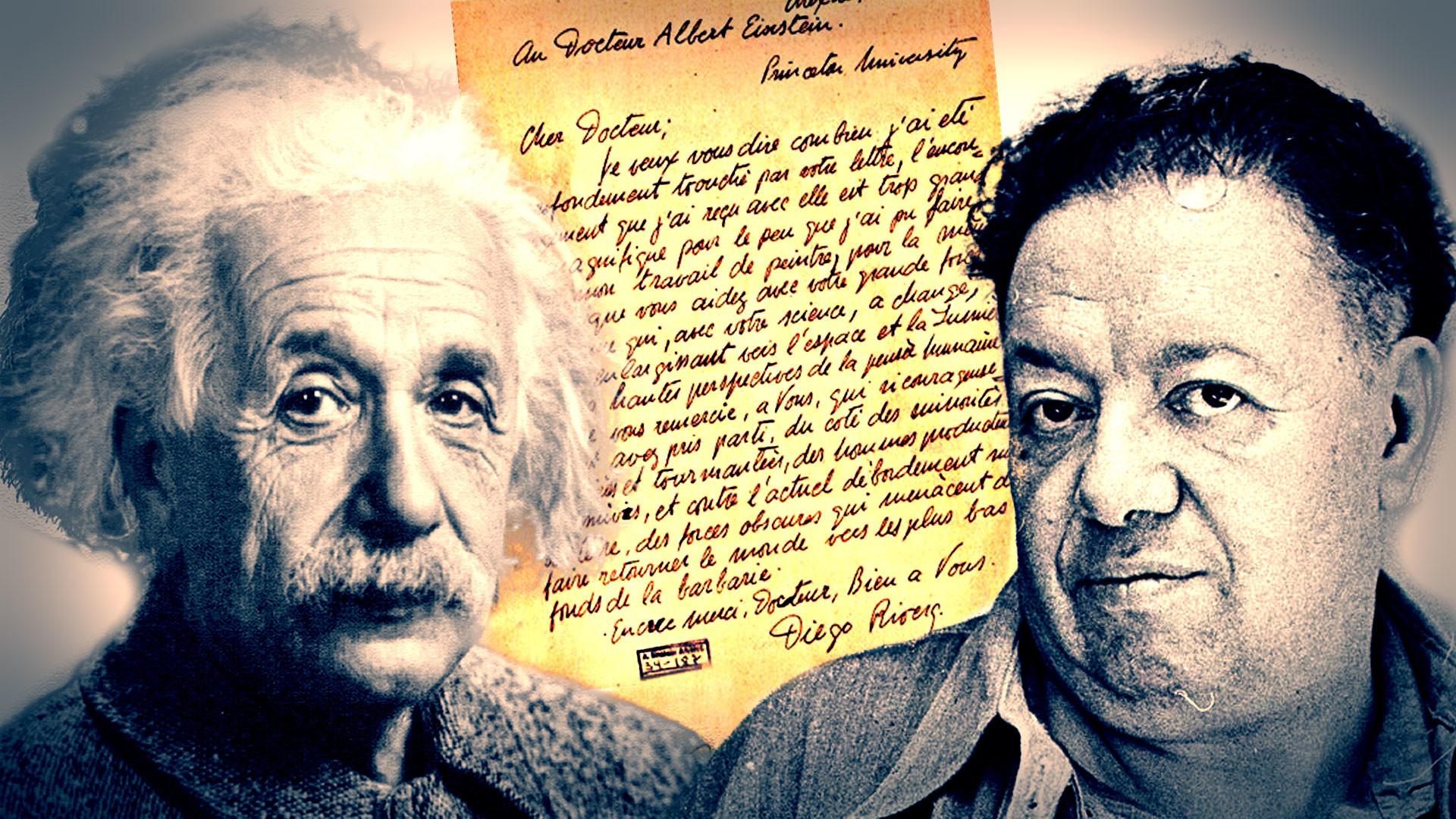 Res: 1920x1080, Las cartas de admiración mutua que intercambiaron el muralista mexicano Diego  Rivera y el genio de la física Albert Einstein permanecieron desconocidas  por ...