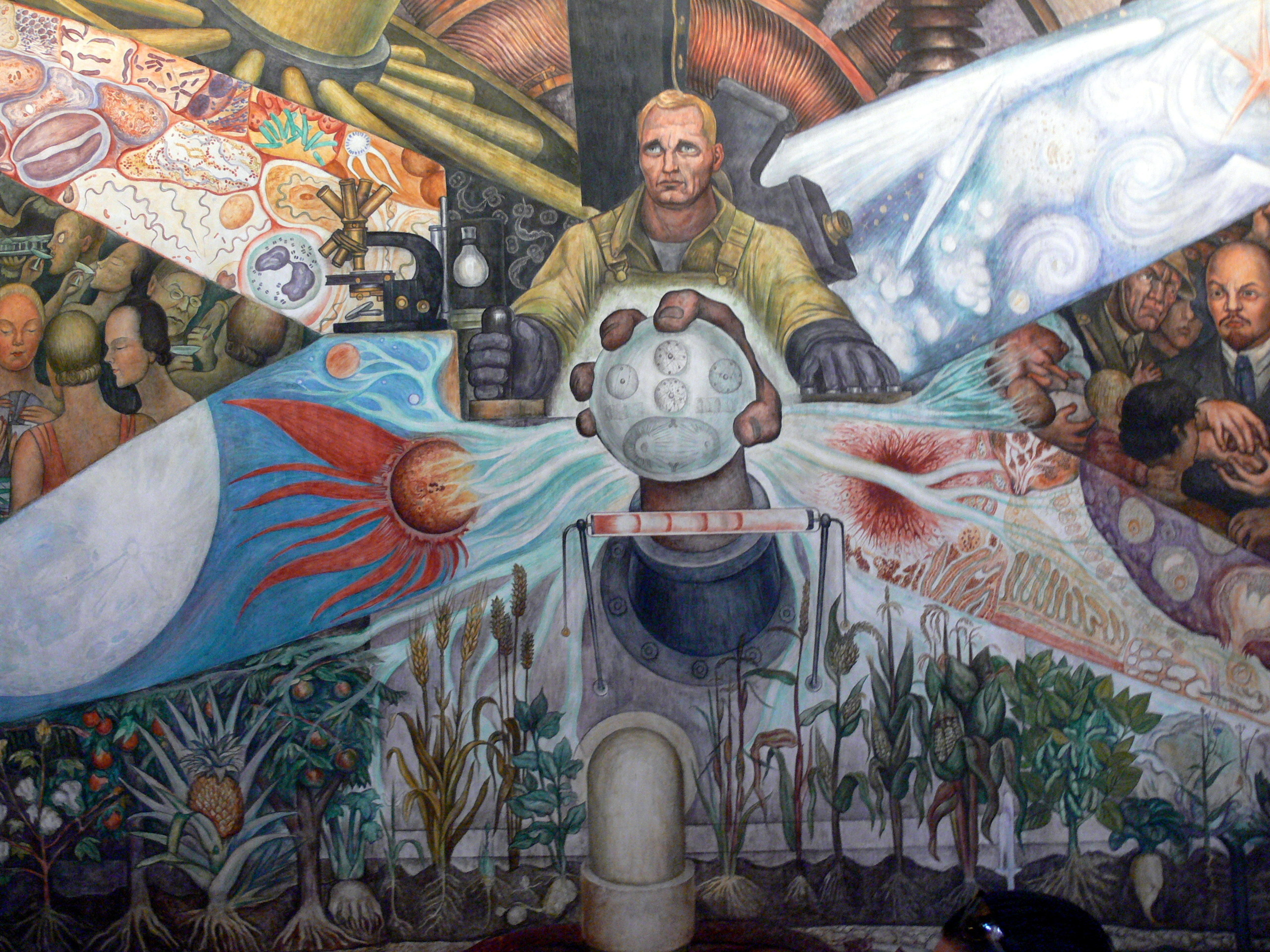 Res: 2560x1920, File:Palacio de Bellas Artes - Mural El Hombre in cruce de caminos Rivera 3