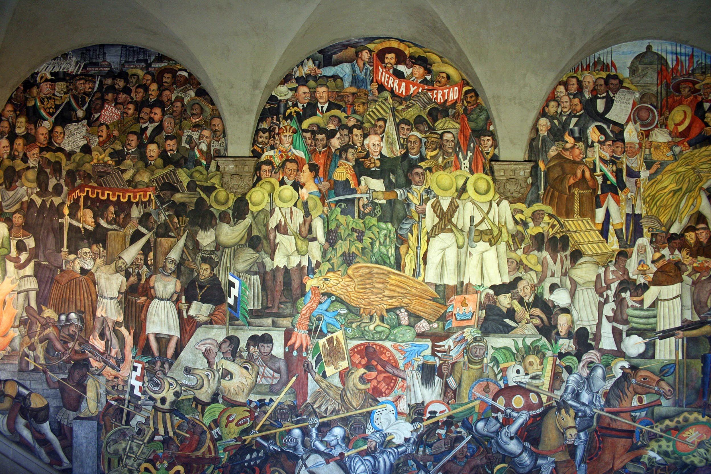Res: 2496x1664, Diego Rivera - Mural Mexicano historia de mexico- forma de enseñar a la  gente 90