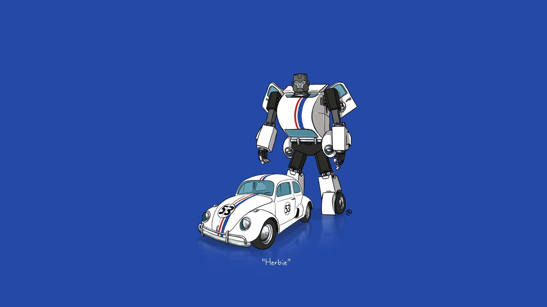 Res: 1920x1080, car, Transformers, Minimalism, Herbie Wallpapers HD / Desktop and Mobile  Backgrounds