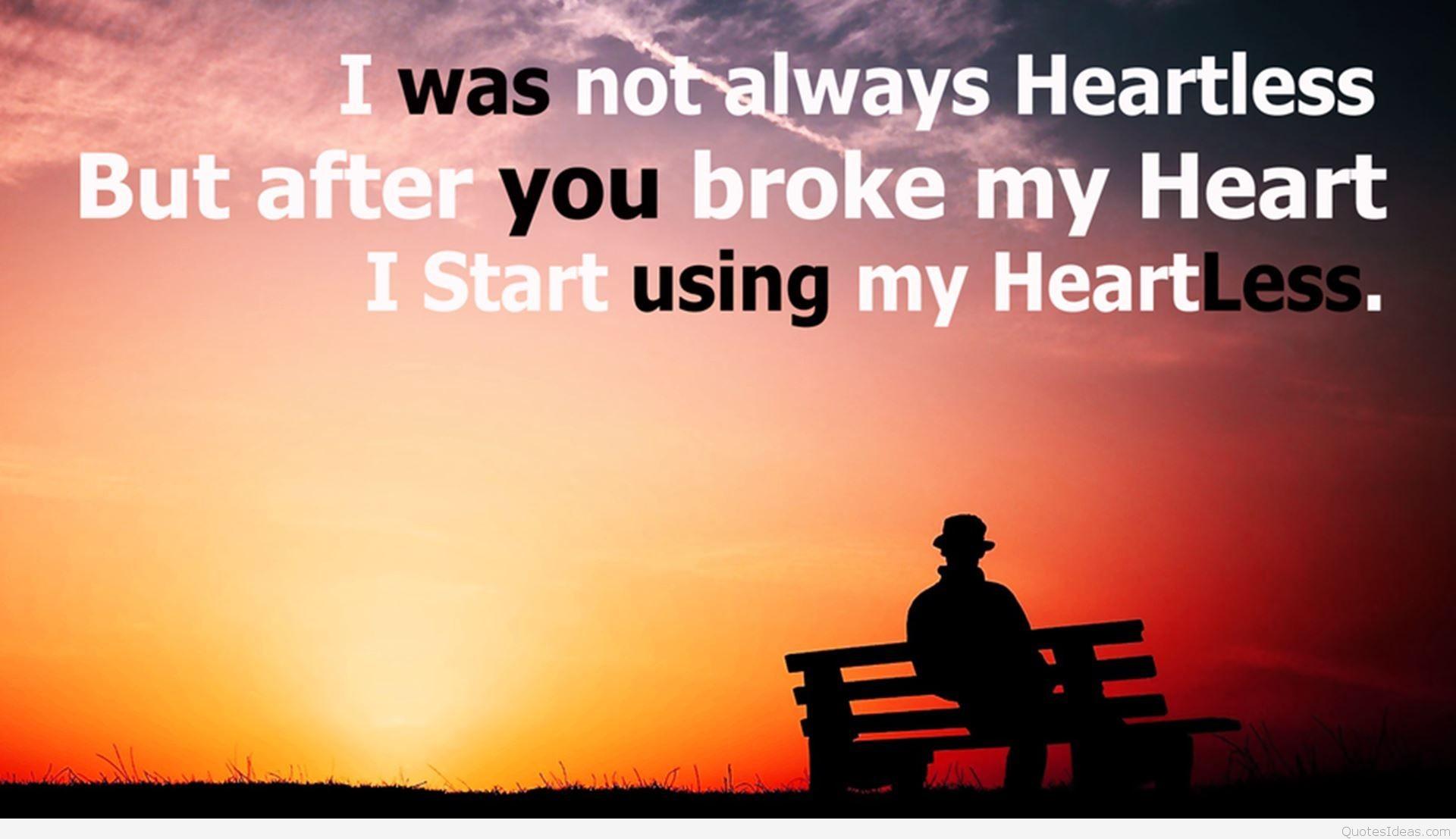 Res: 1920x1107, Quotes-On-Broken-Heart-Wallpaper