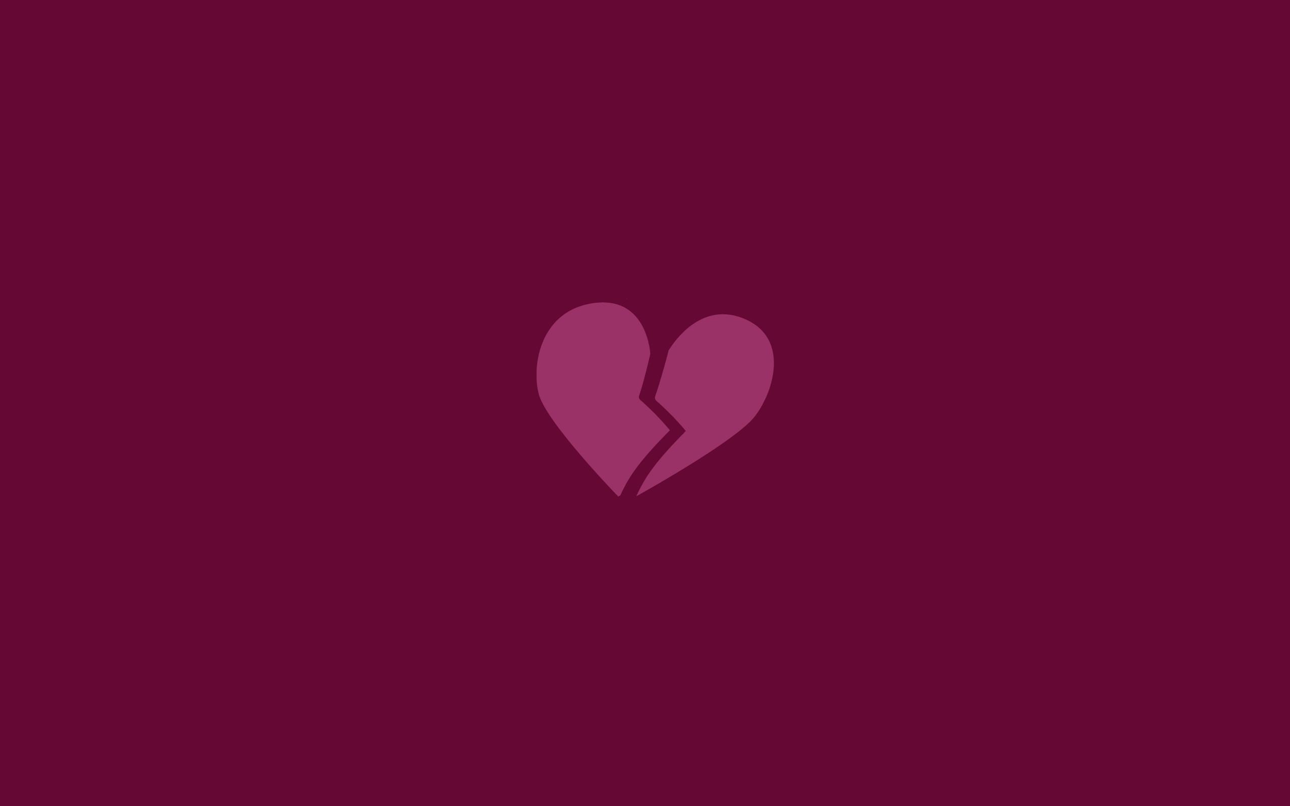 Res: 2560x1600, Minimalistic Broken Heart wallpapers Minimalistic Broken Heart stock