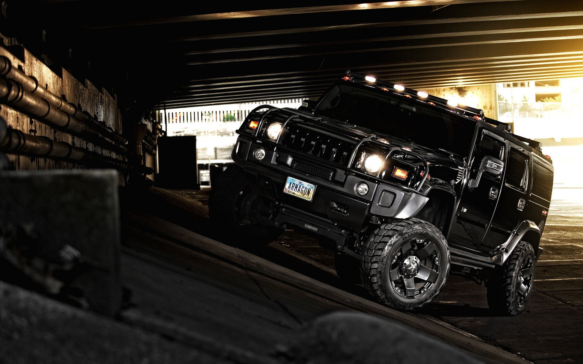 Res: 1920x1200, Hummer H2 Blacked Out