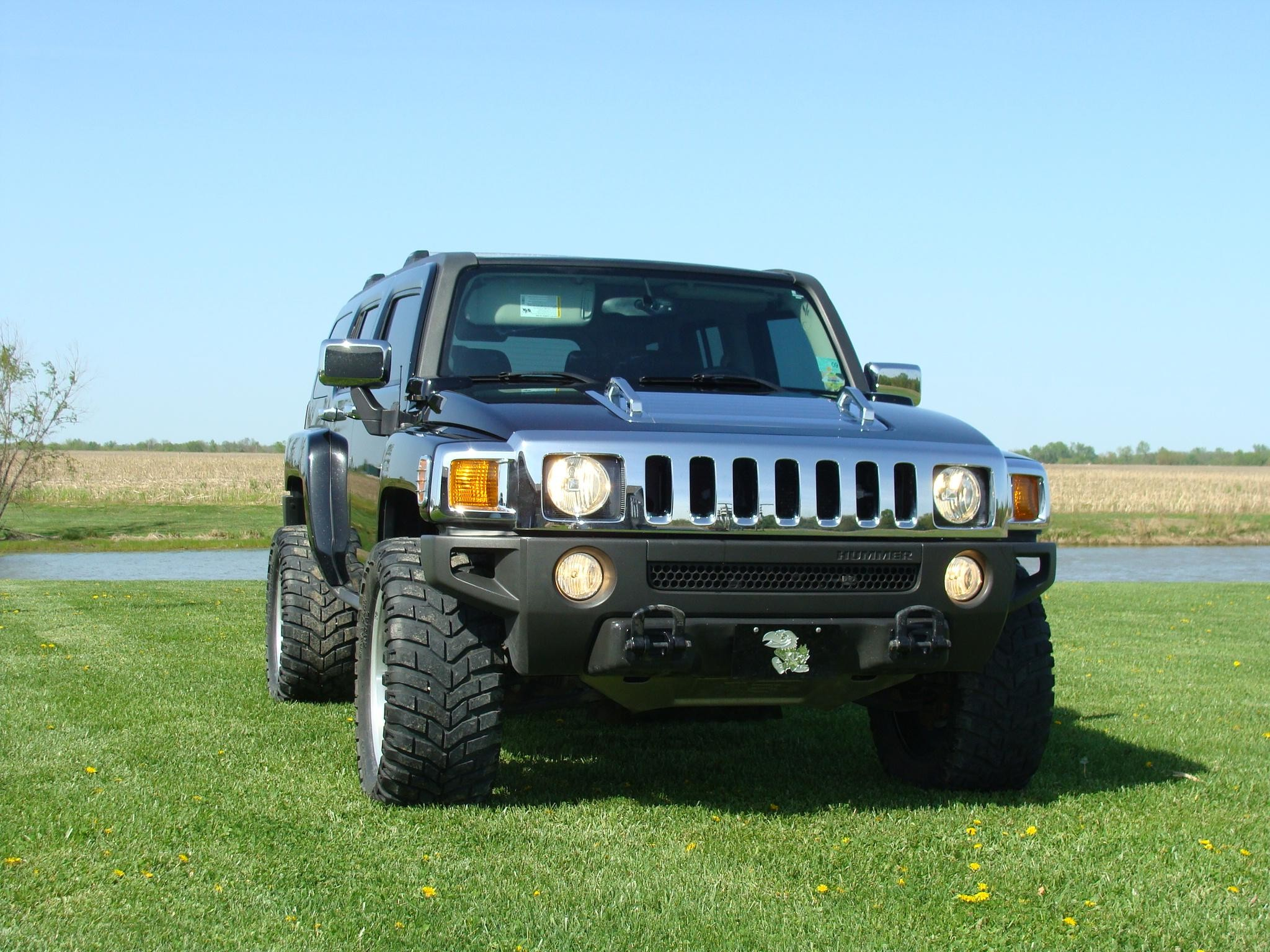 Res: 2048x1536, Hummer H3 Lifted Blue