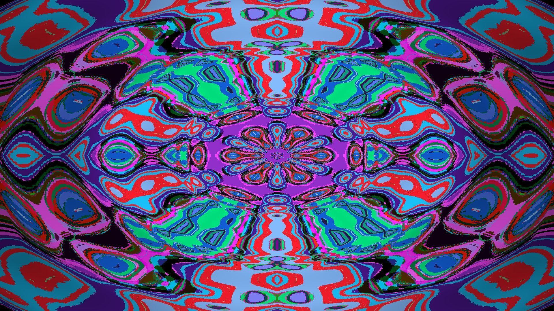 Res: 1920x1080, psychedelische Mandala
