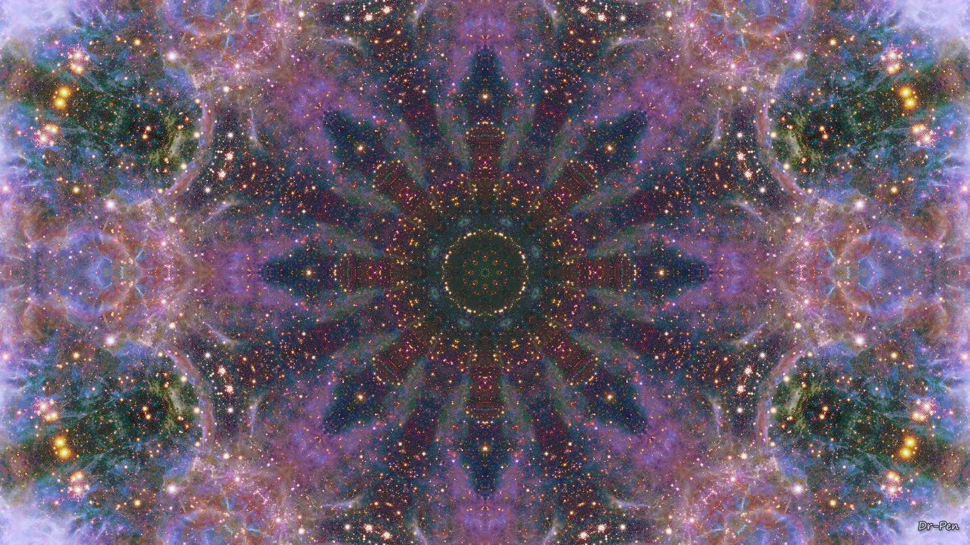 Res: 1920x1080, Space Mandala No16 [] [OC] · Desktop ComputersBeautiful  WallpaperWallpaper ...