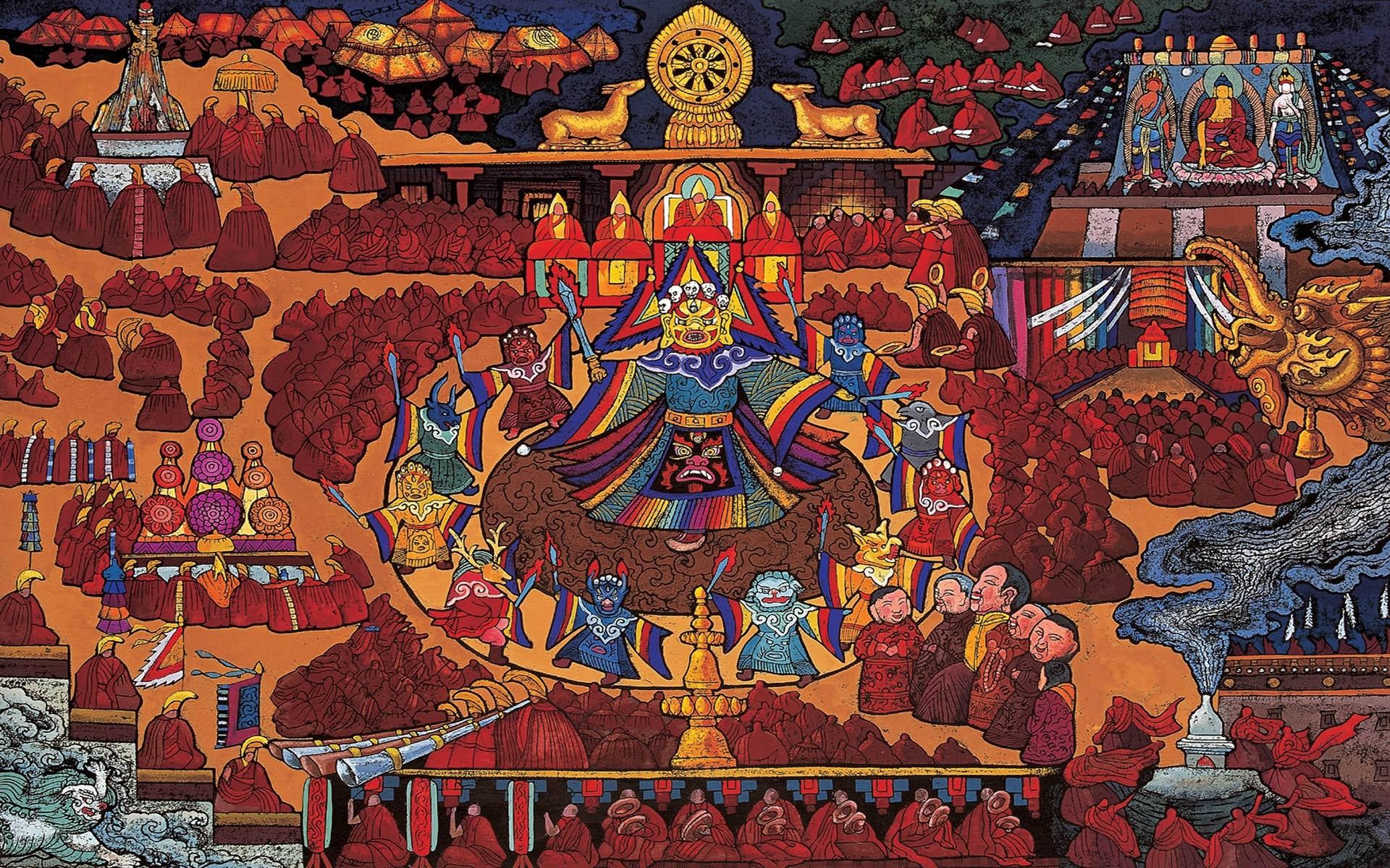 Res: 1920x1200, Künstlerisch - Tibetan Wallpaper