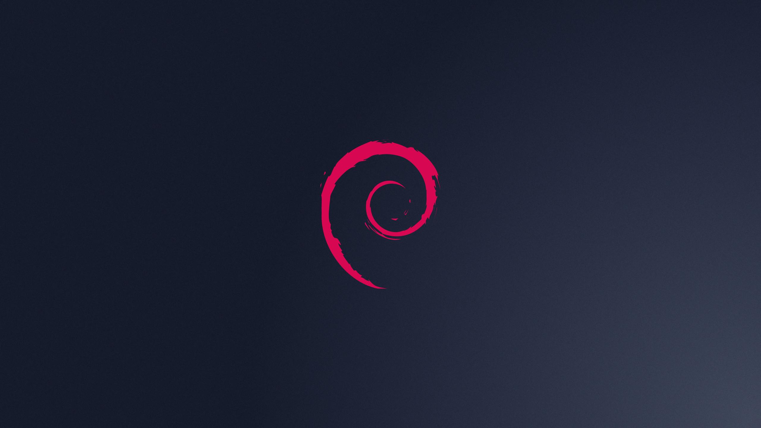 Res: 2560x1440, Debian Logo Wallpaper