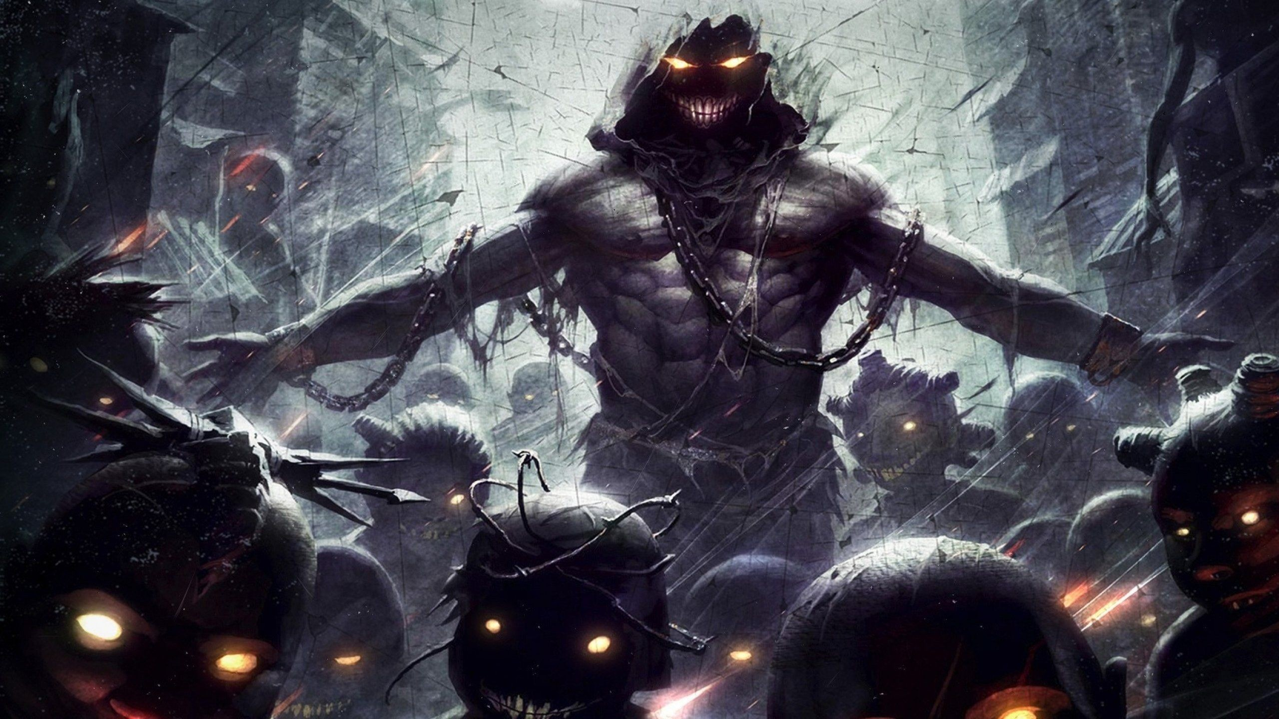 Res: 2560x1440, 6776-artwork-demons-disturbed-monsters-dark-darkness-light-
