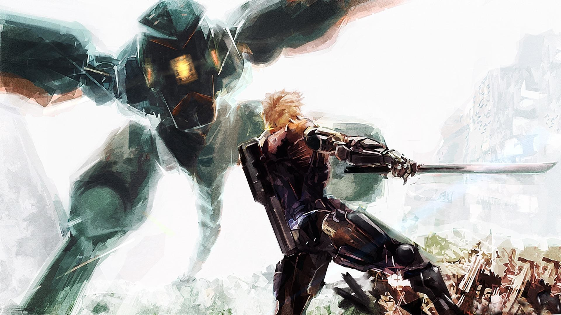 Res: 1920x1080, Metal Gear Battles Technics Swords Robot Solid Snake, Rex (MGS) Games  wallpaper thumb