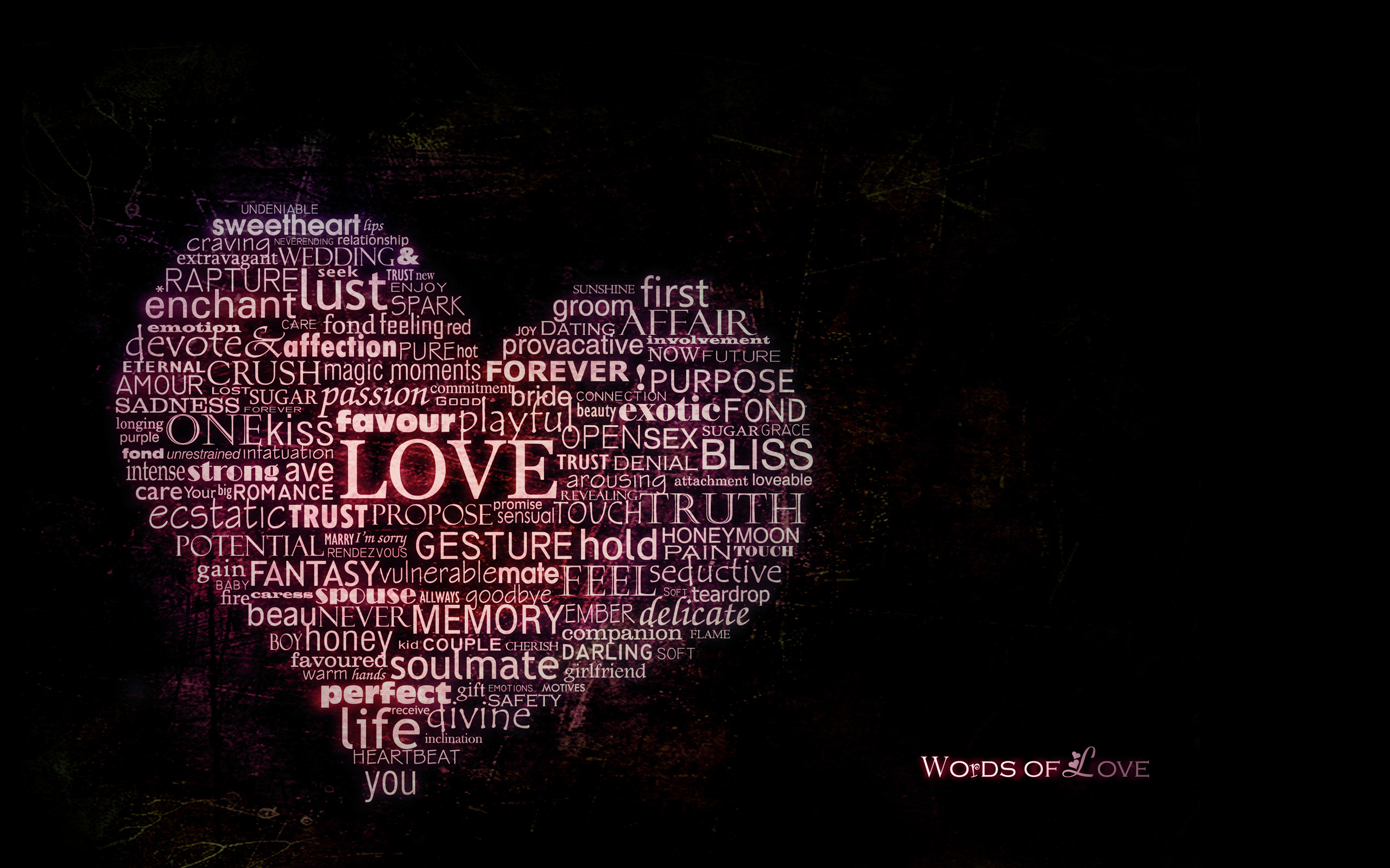 Res: 2560x1600, Words of Love Wallpaper