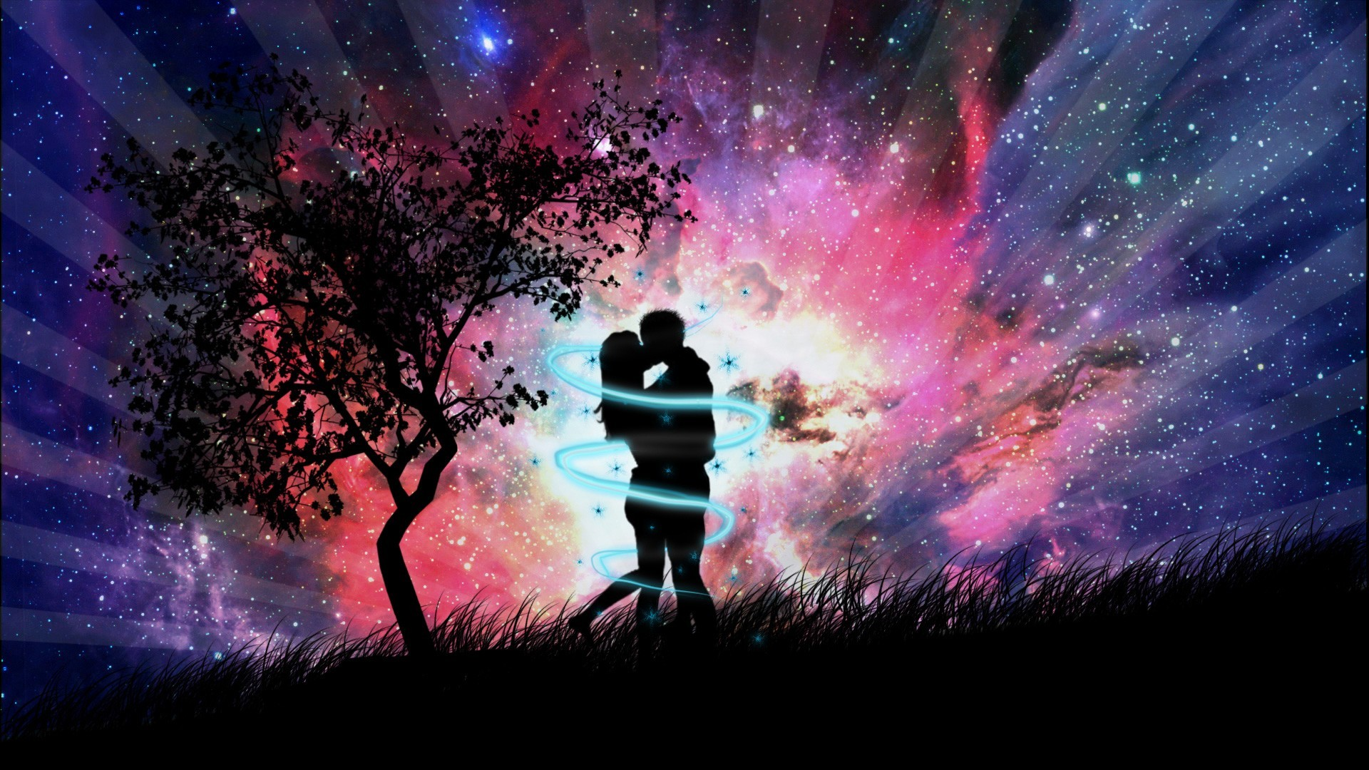 Res: 1920x1080, 3D Animation couple kissing Love Wallpaper