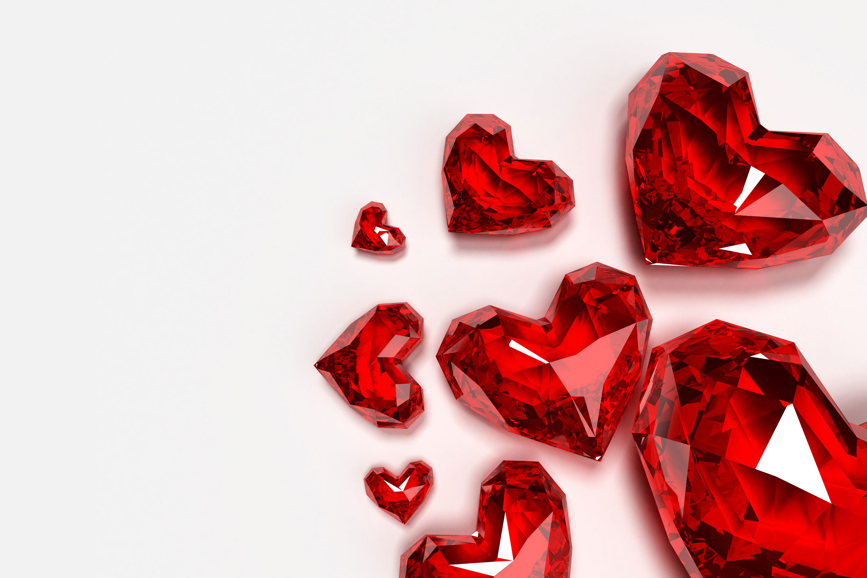 Res: 3000x2000, Love Shaped Diamond Wallpaper