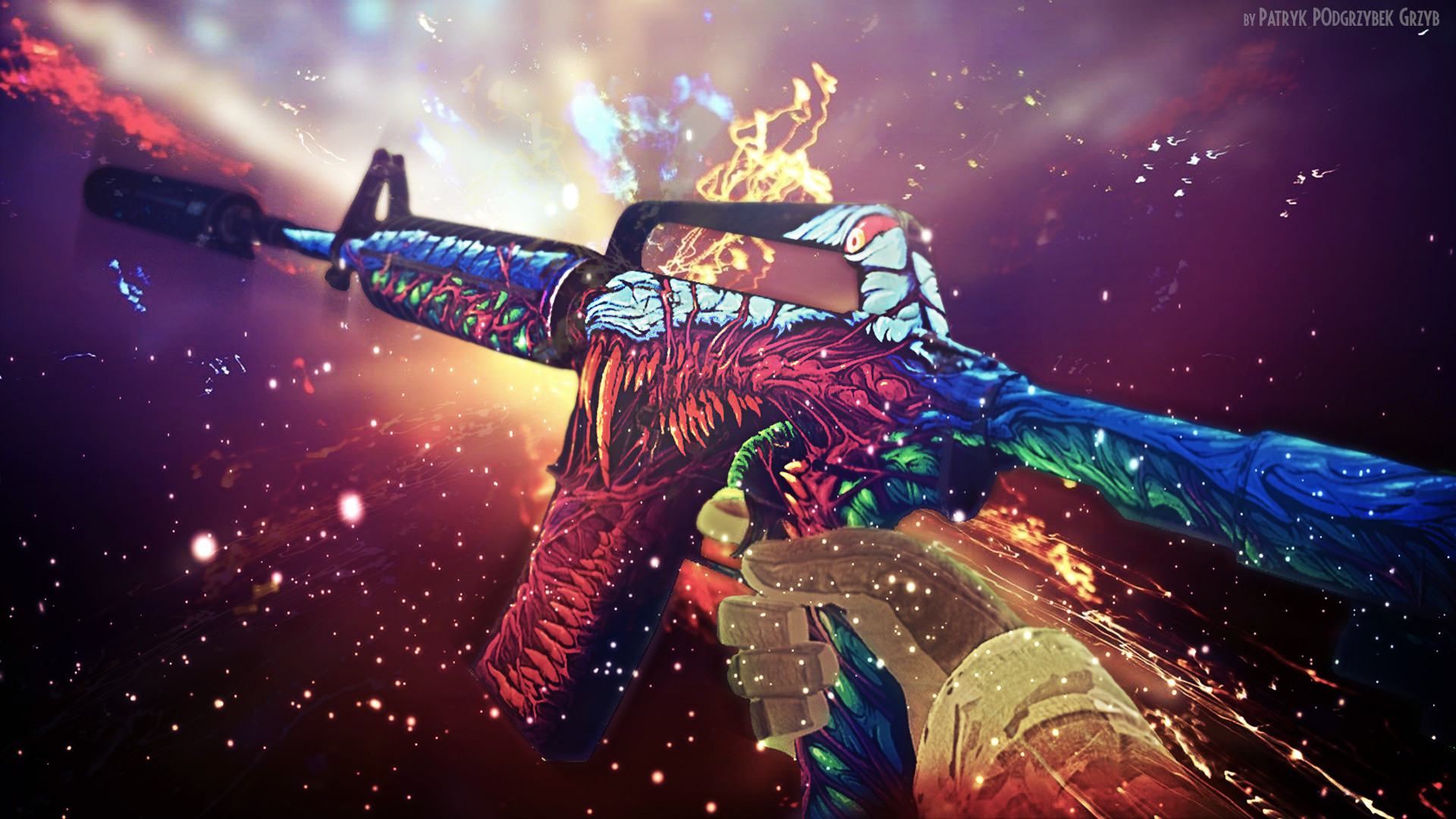 Res: 1920x1080, Steam Community :: :: m4a1-s | Hyper Beast - Wallpaper by Patryk