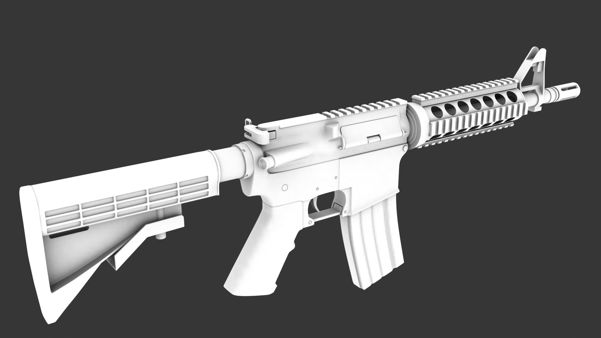 Res: 1920x1080, M4A1 High poly