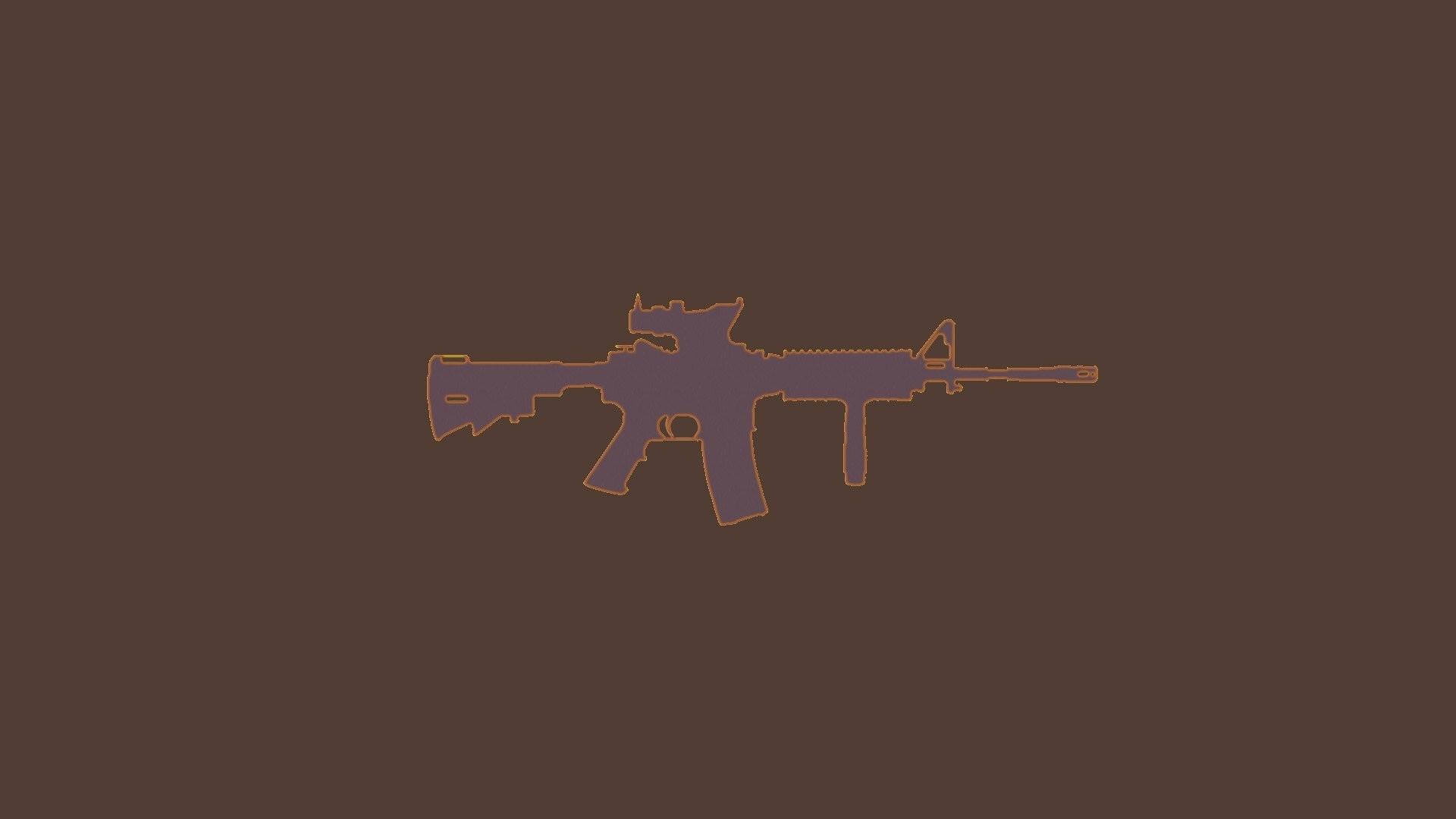 Res: 1920x1080, gun m416 m4a1 machine gun ar 15 acog silhouette wallpaper and background