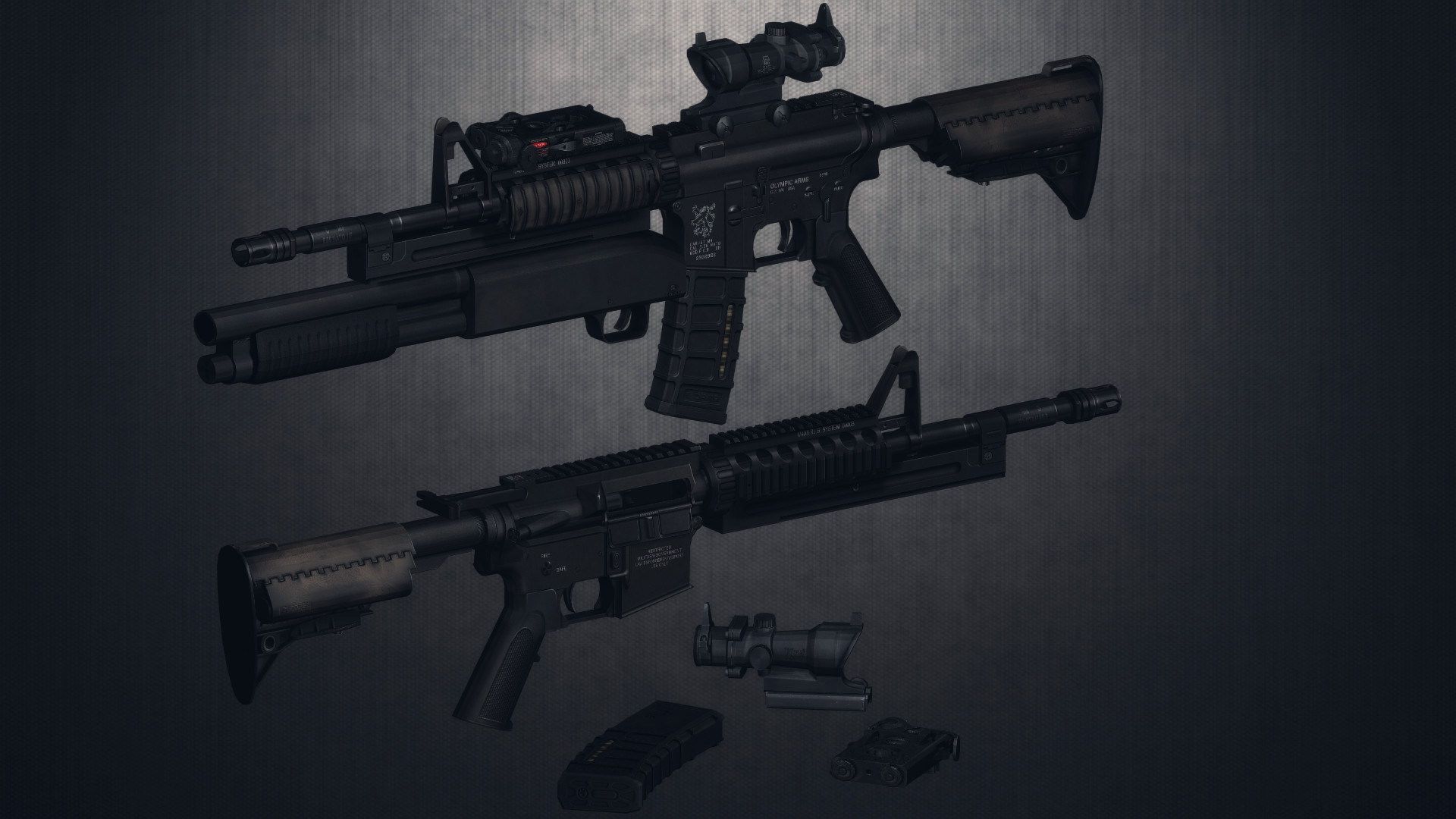 Res: 1920x1080, ... Knight's Armament M4A1+Masterkey for DL by AbyssLeo